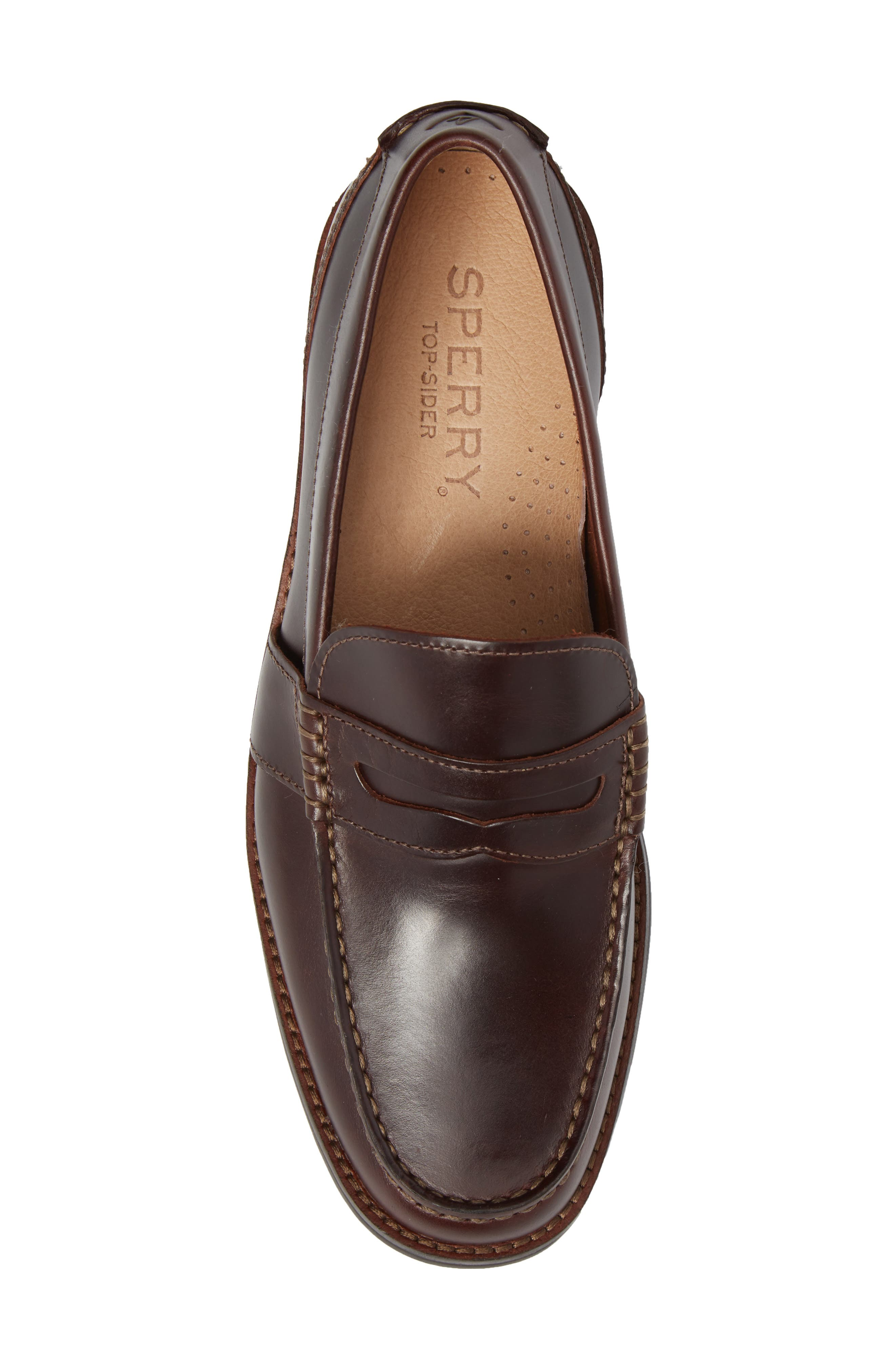 Essex Penny Loafer,                             Alternate thumbnail 5, color,                             AMARETTO LEATHER