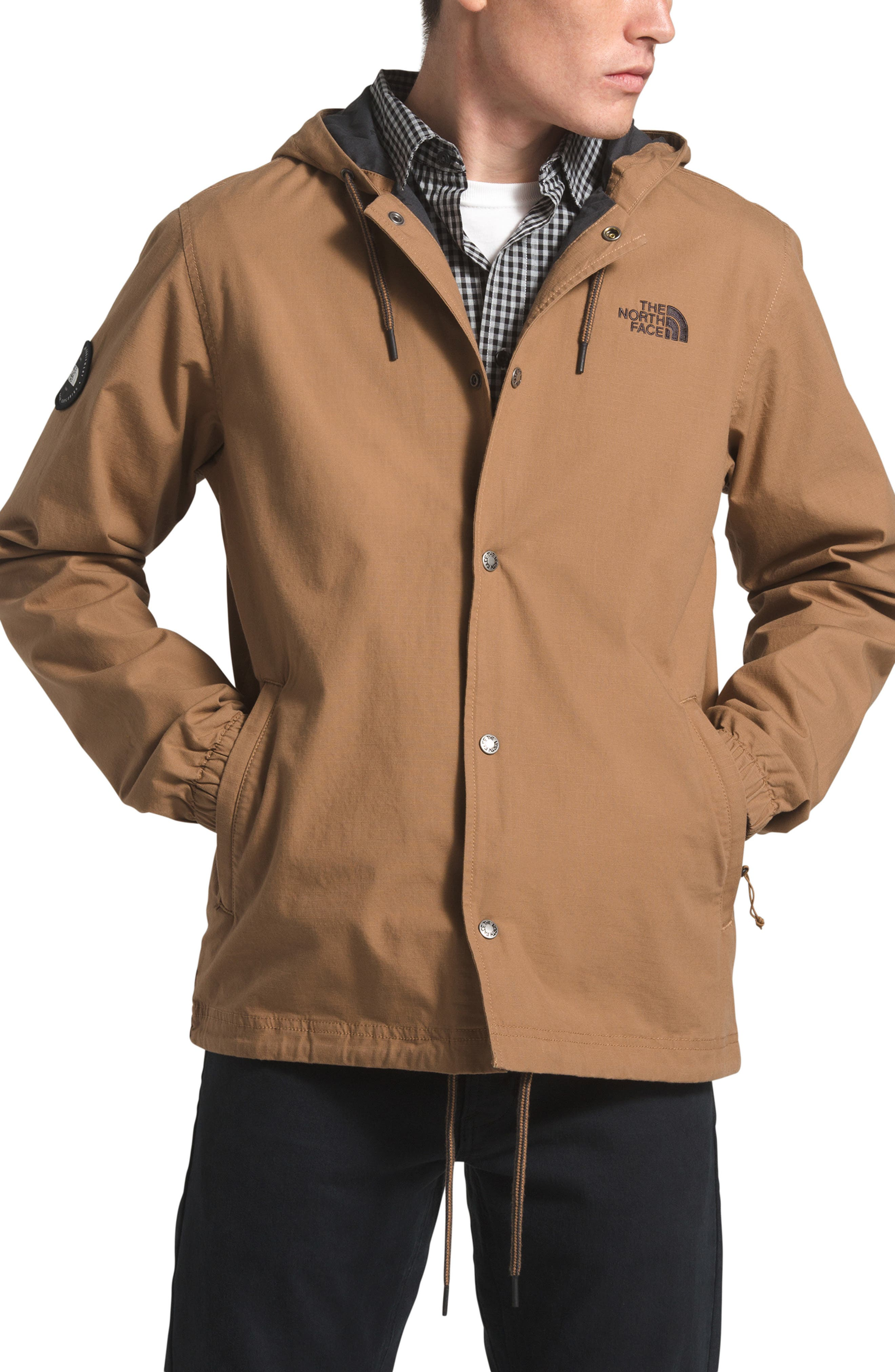 The North Face Maclure Utility Hooded Jacket, Brown