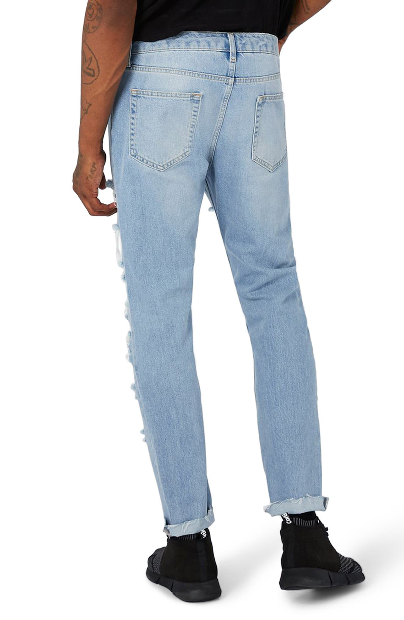 AAA Collection Shredded Skinny Jeans,                             Alternate thumbnail 2, color,                             400