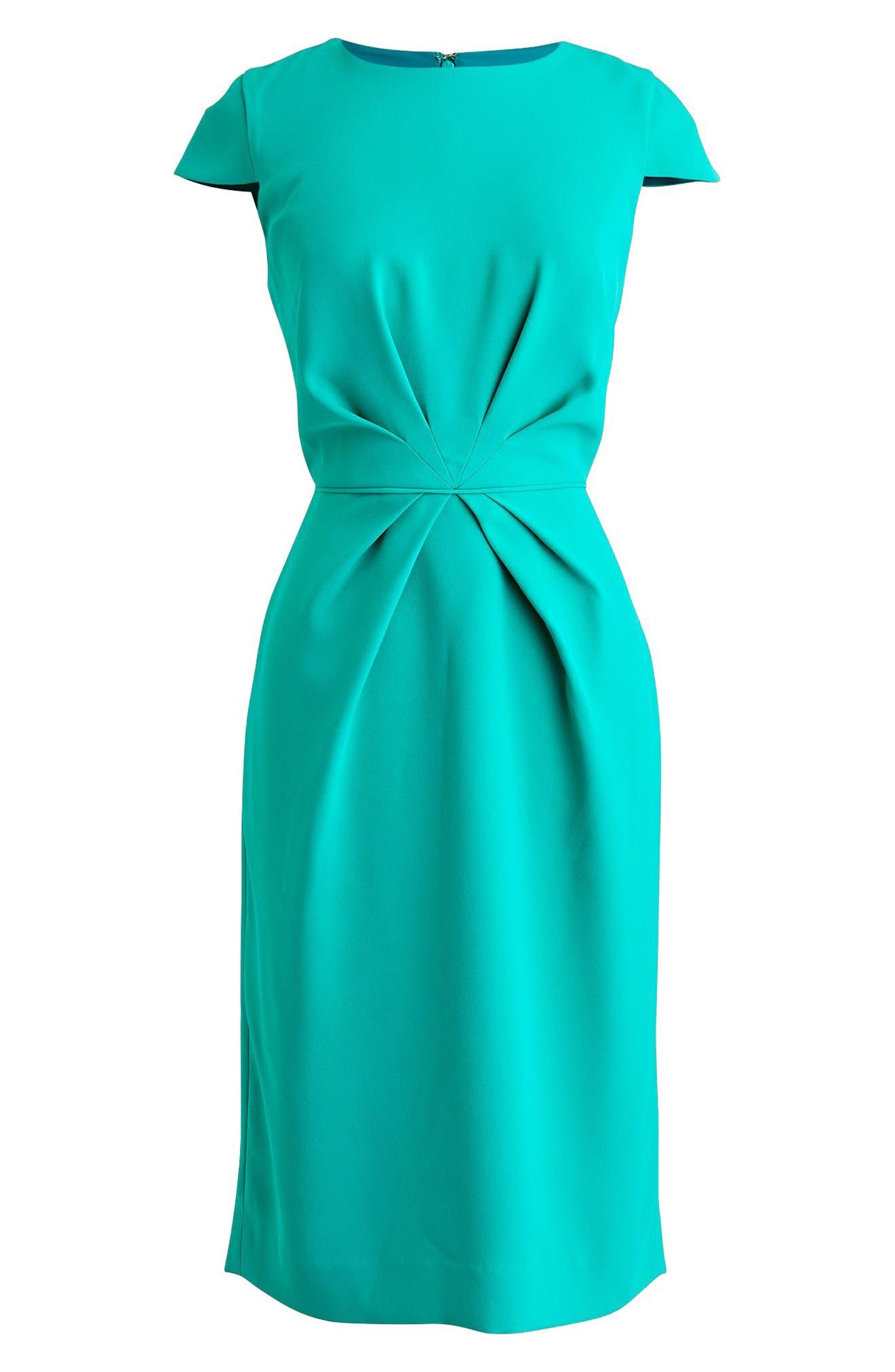 Luz Tie Front Crepe Dress,                             Alternate thumbnail 4, color,                             400