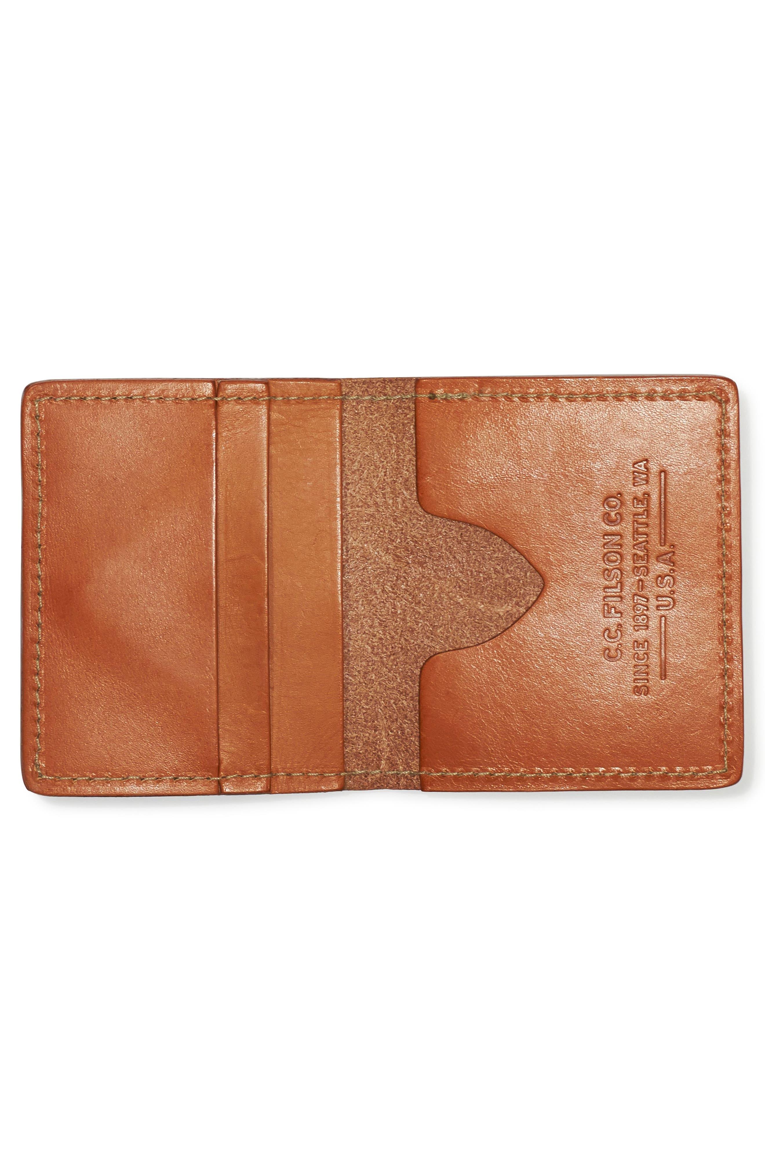 Leather Bifold Cash & Card Case,                             Alternate thumbnail 4, color,