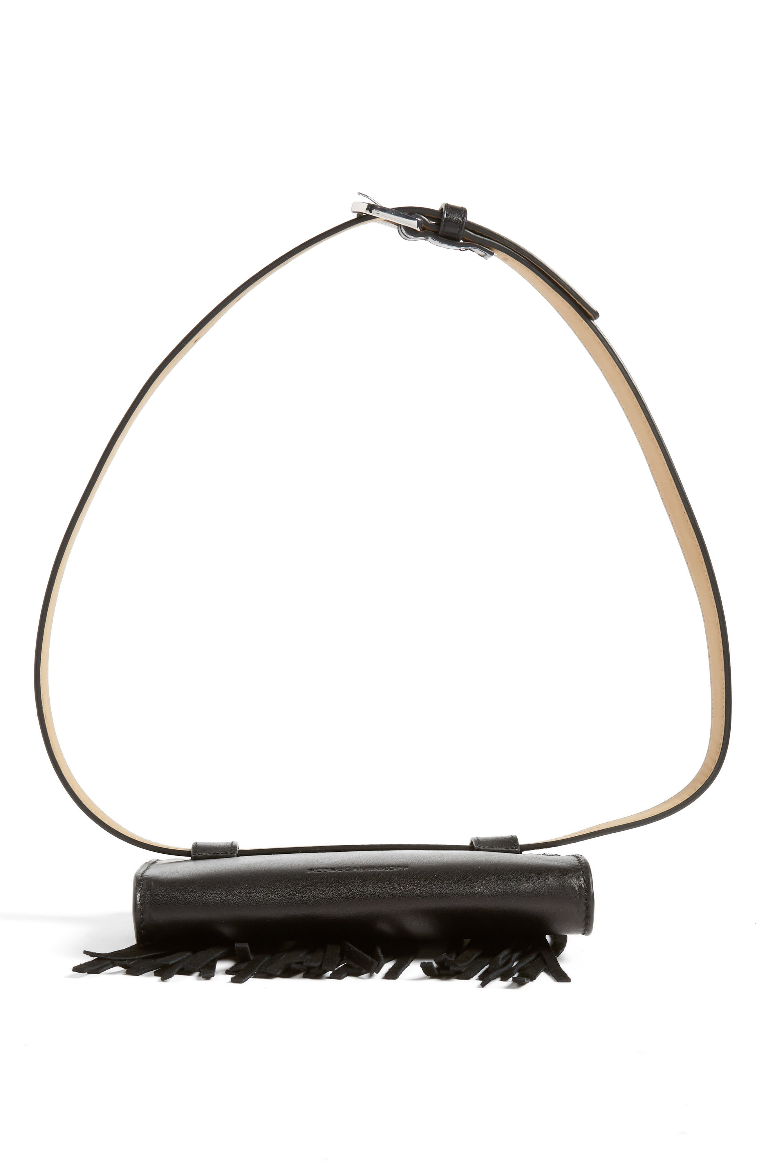Fringe Belt Bag,                             Alternate thumbnail 7, color,                             001
