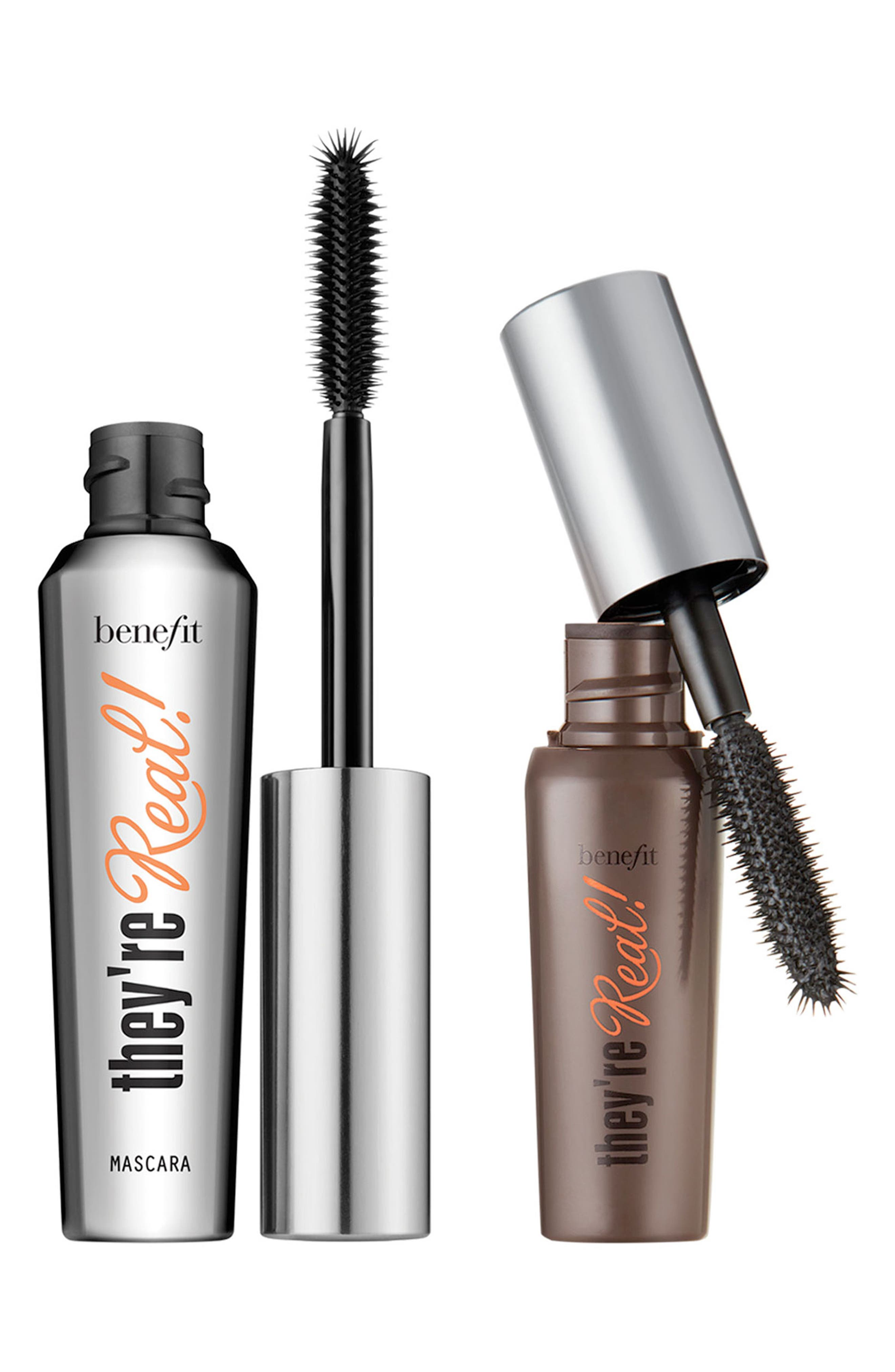 Benefit They're Real! Lengthening & Volumizing Mascara Duo,                             Main thumbnail 1, color,                             BEYOND BLACK