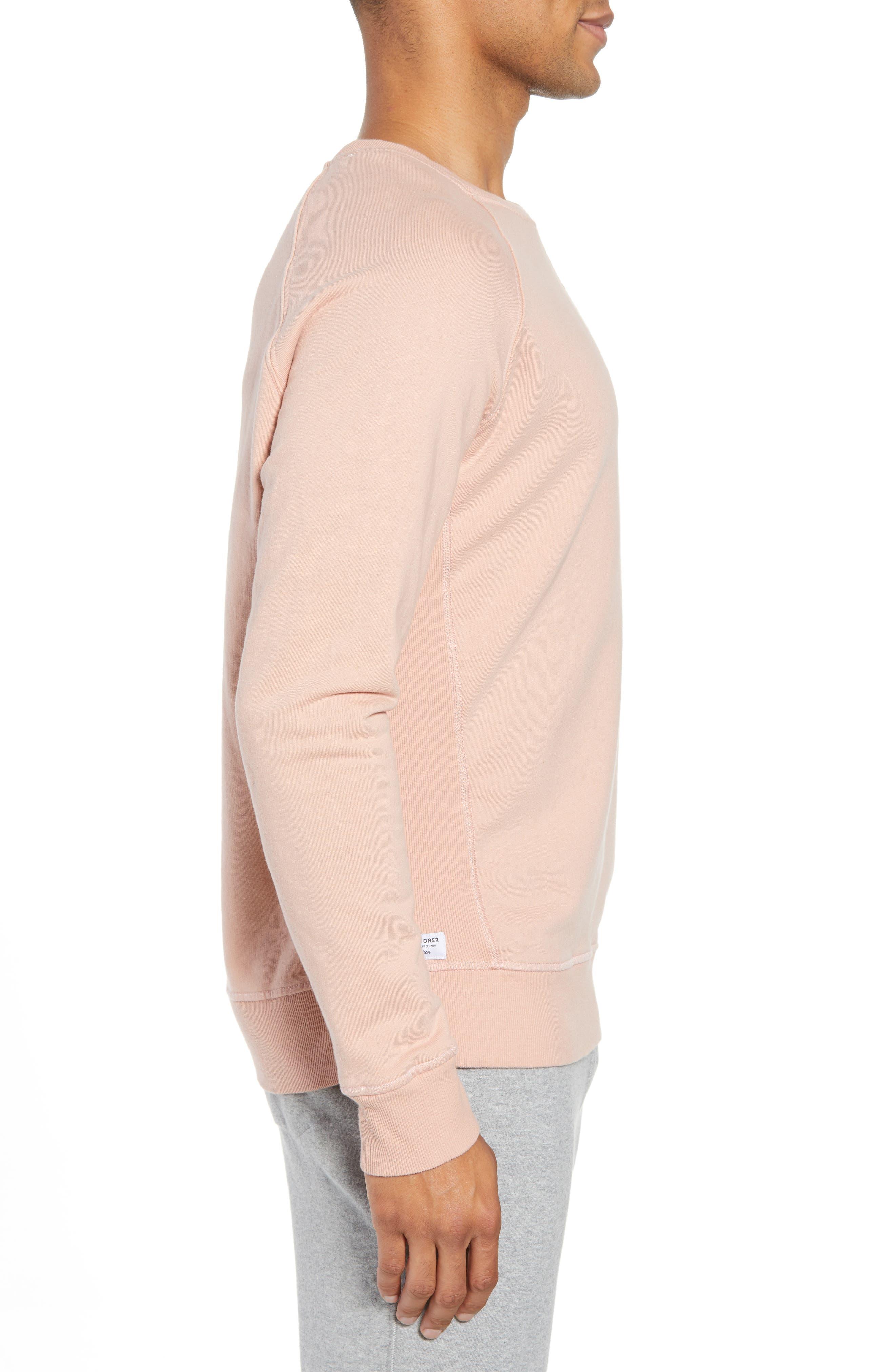 RICHER POORER,                             Crewneck Cotton Sweatshirt,                             Alternate thumbnail 3, color,                             BLUSH