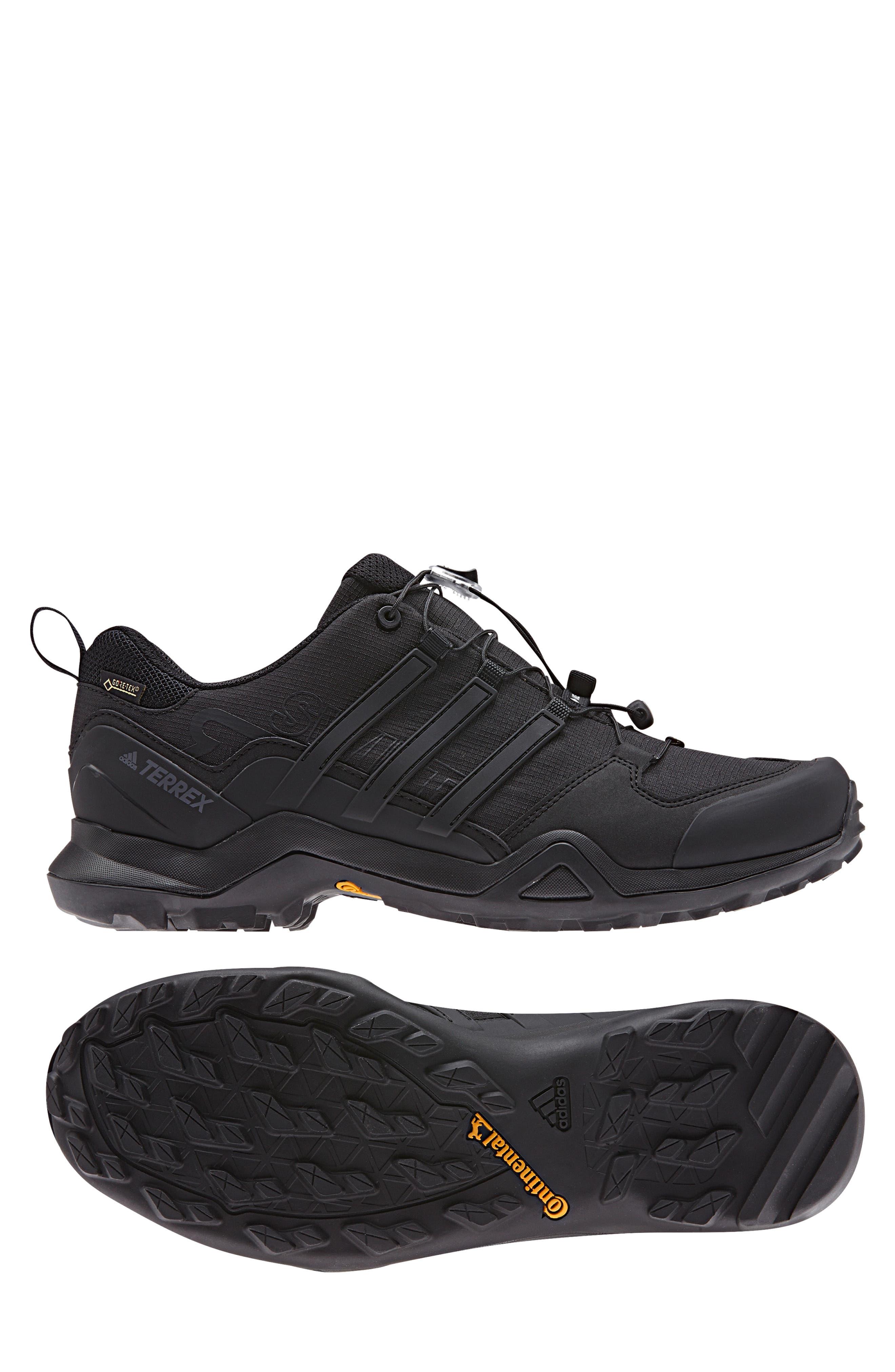 ADIDAS,                             Terrex Swift R2 GTX Gore-Tex<sup>®</sup> Waterproof Hiking Shoe,                             Alternate thumbnail 10, color,                             BLACK/ BLACK/ BLACK