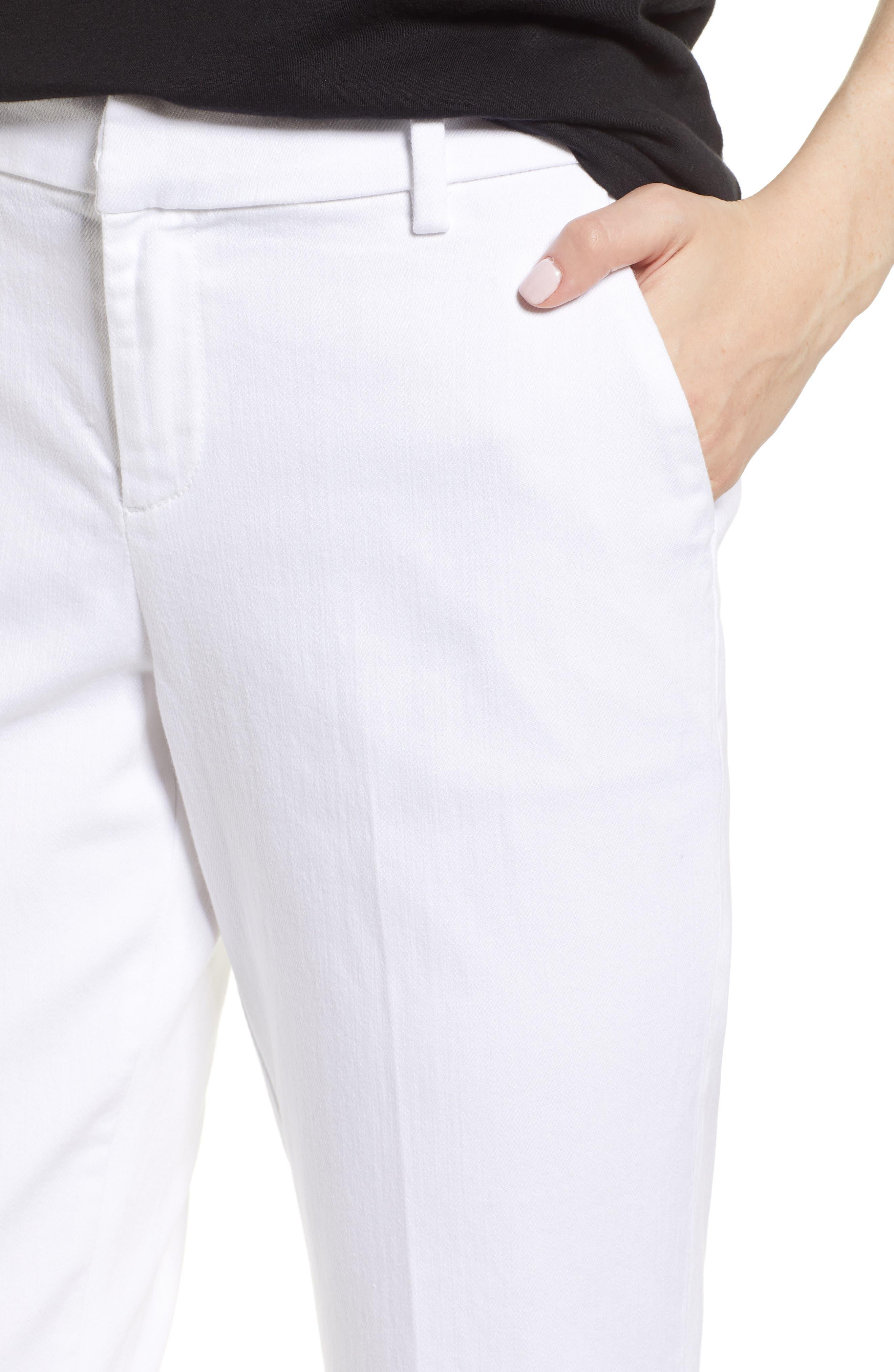 Kelsey Trousers,                             Alternate thumbnail 4, color,                             BRIGHT WHITE