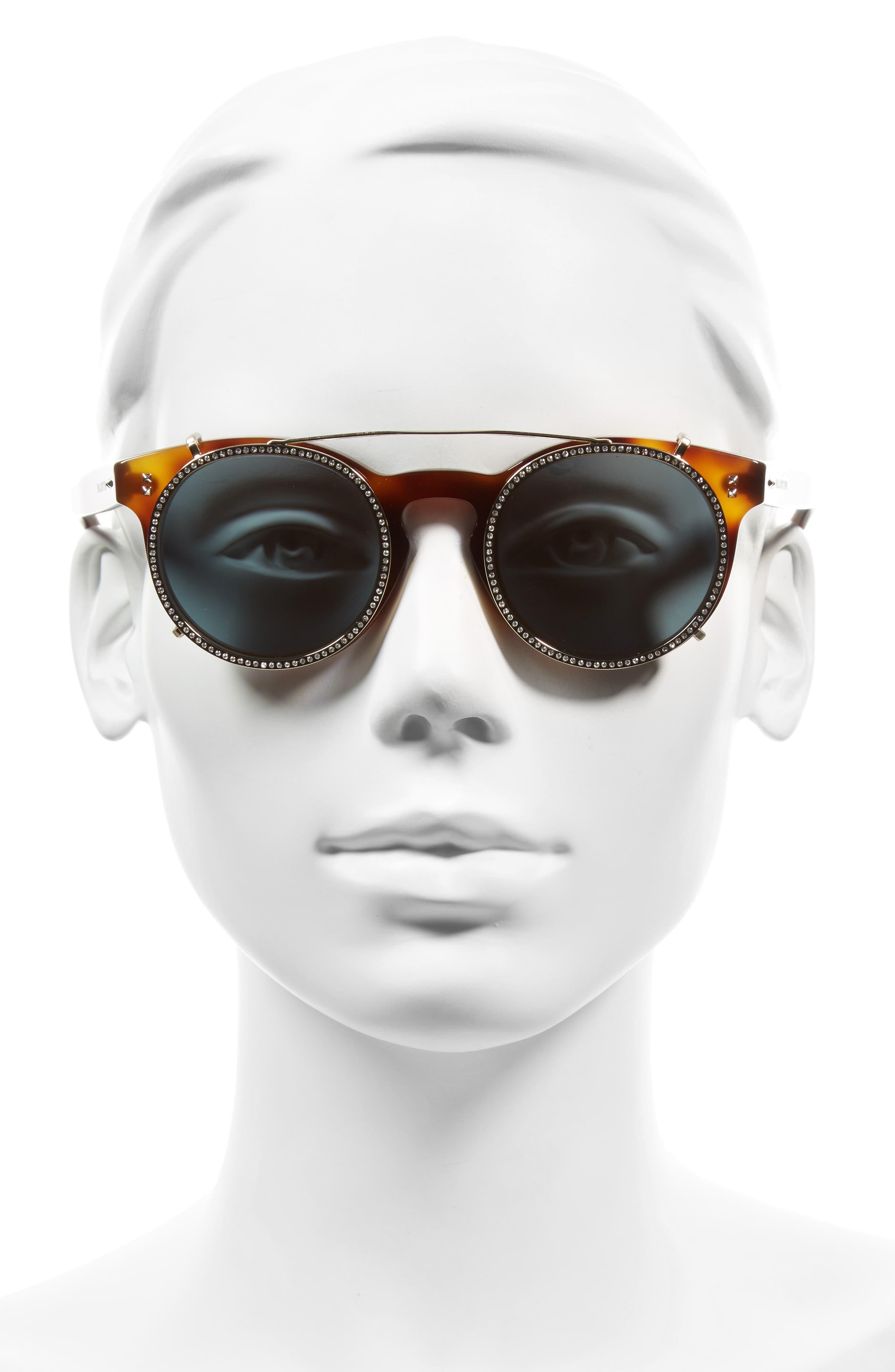 47mm Round Sunglasses,                             Alternate thumbnail 6, color,