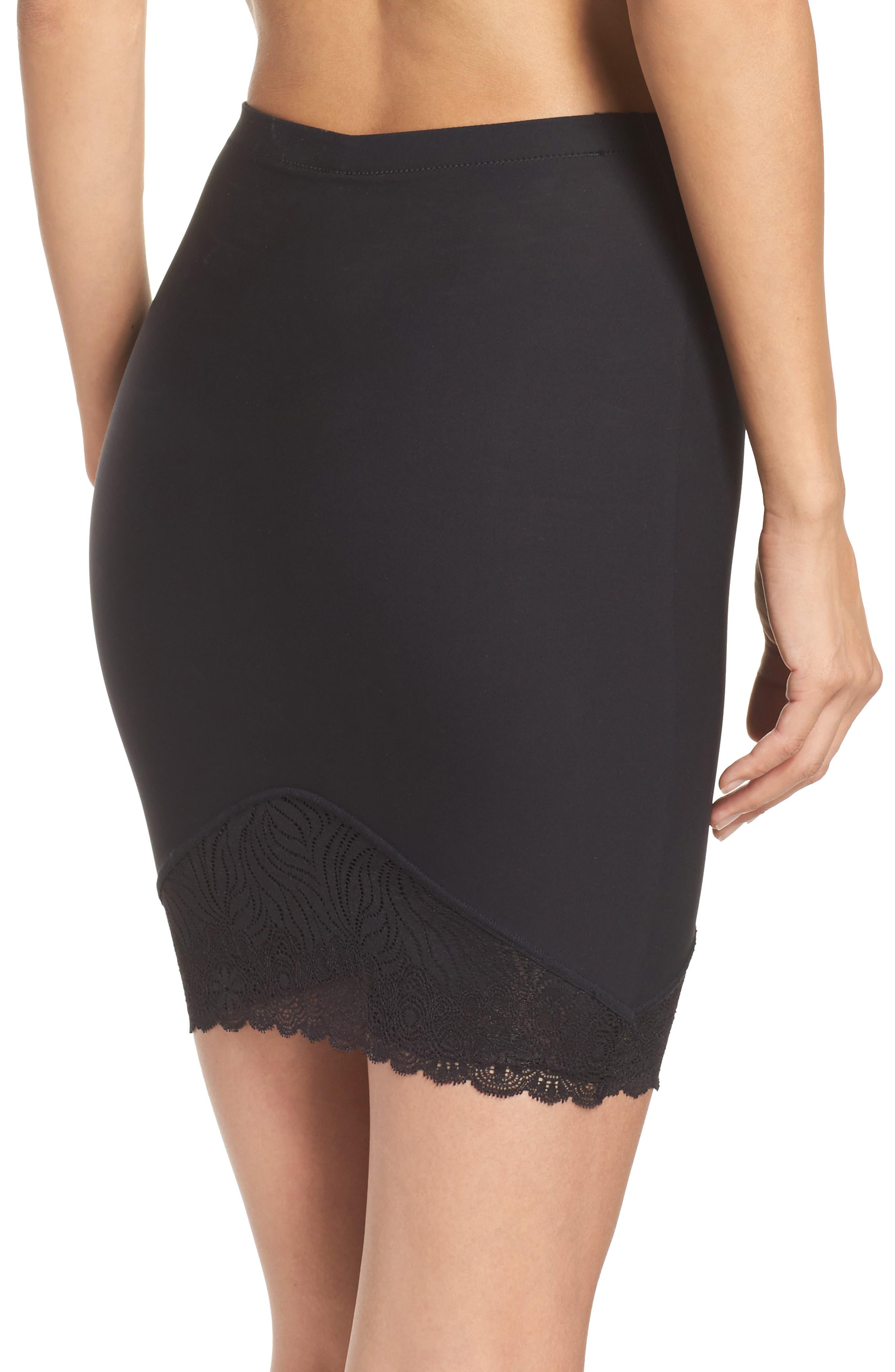 Top Model High Waist Skirt Shaper,                             Alternate thumbnail 4, color,                             001