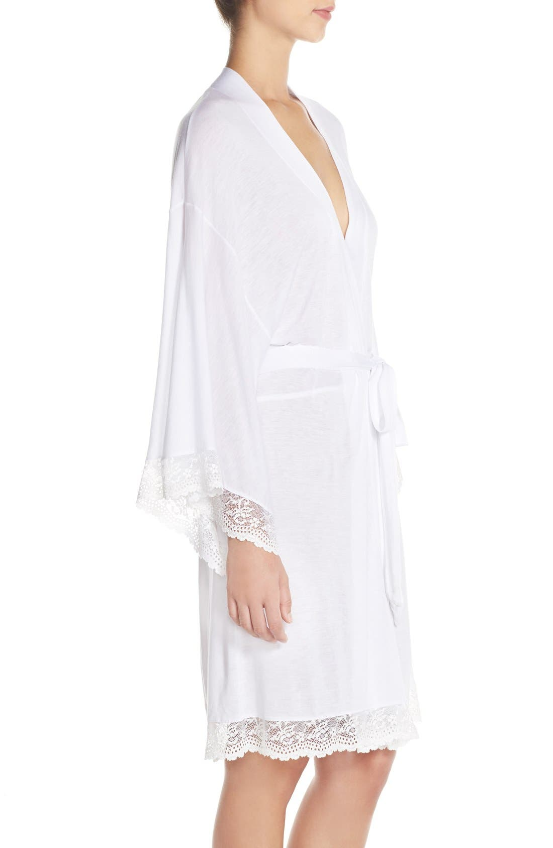 'Colette' Kimono Robe,                             Alternate thumbnail 3, color,                             WHITE