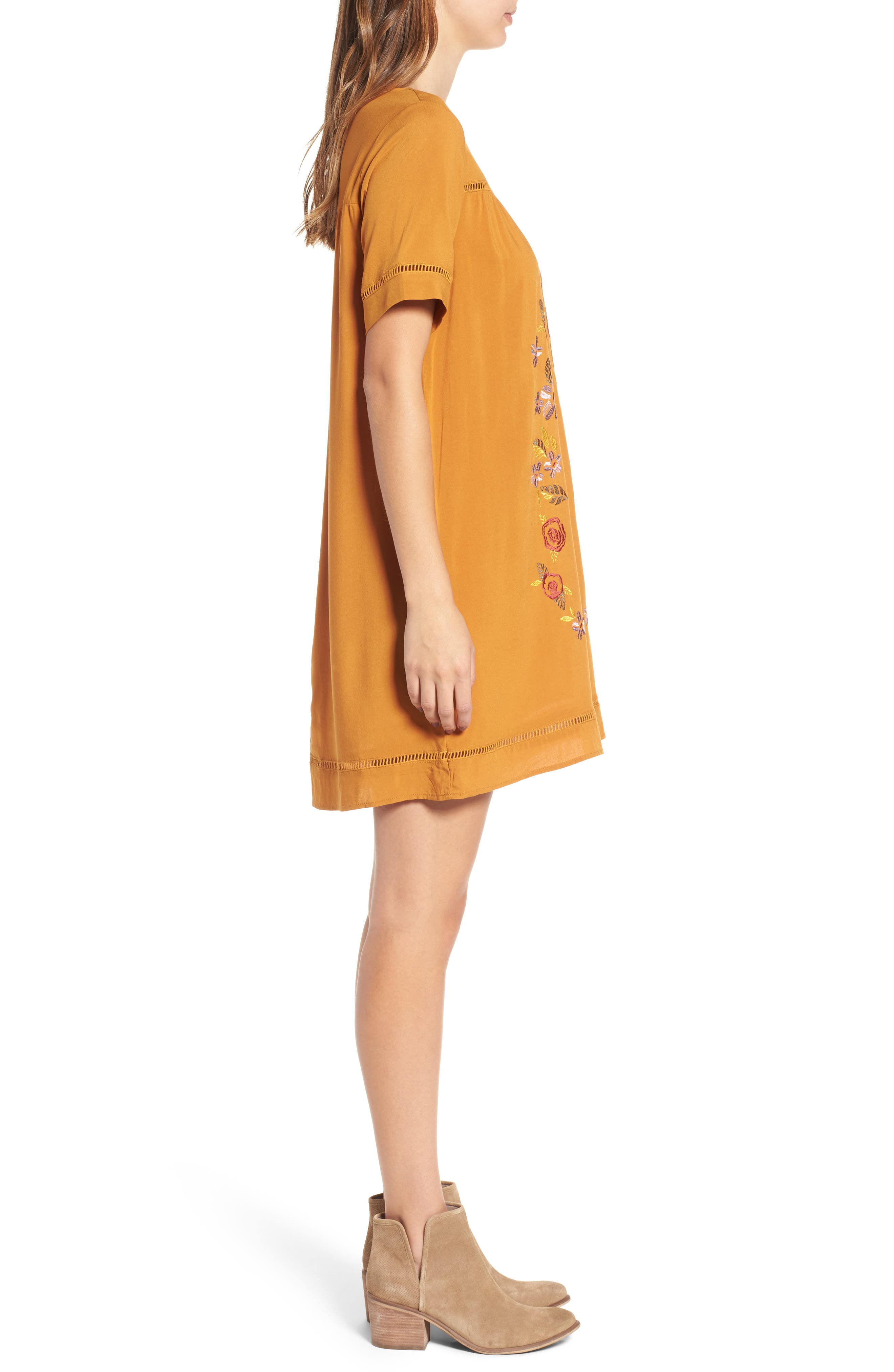 Embroidered Dress,                             Alternate thumbnail 3, color,                             201