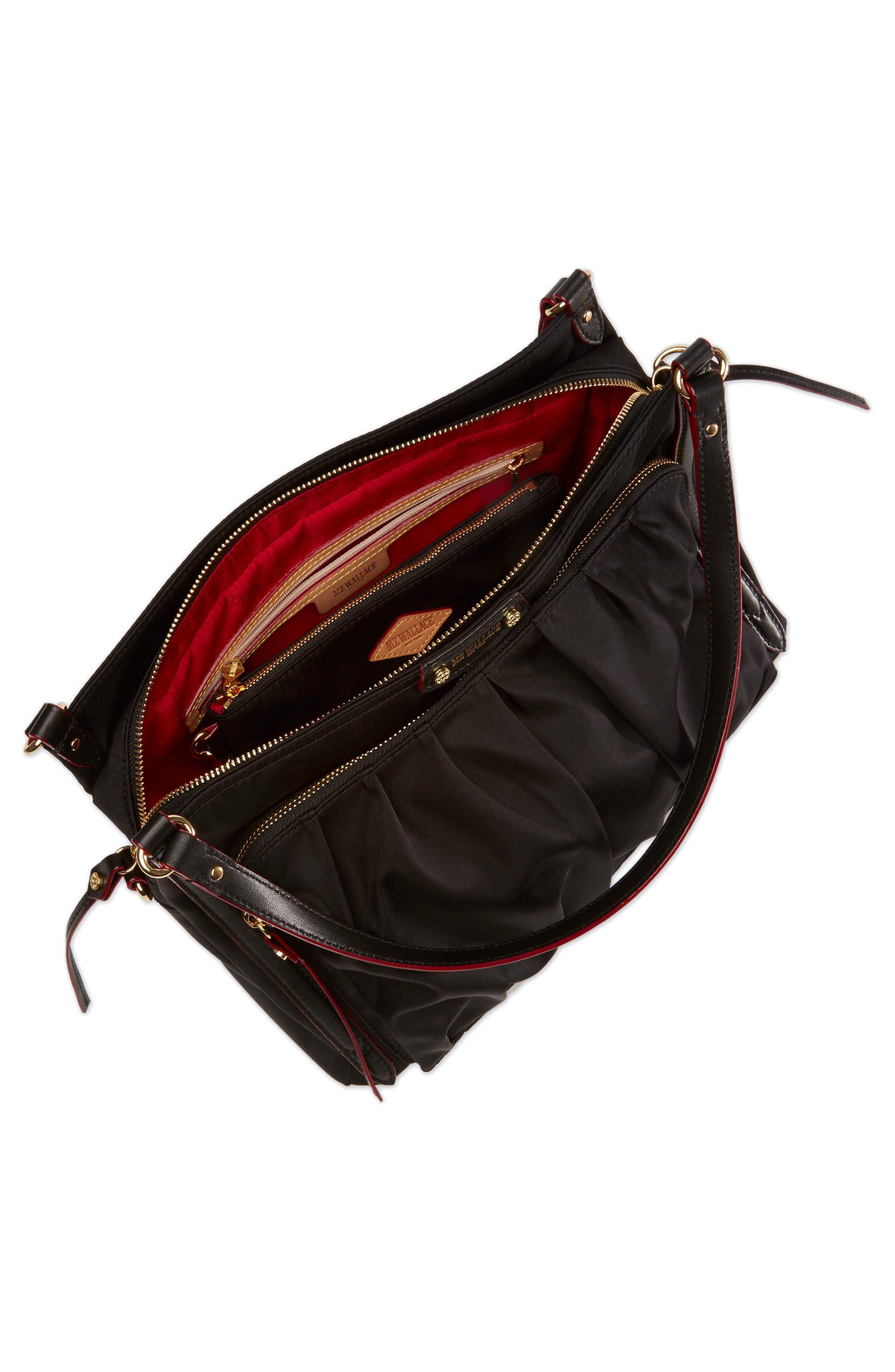 Toni Bedford Nylon Shoulder Bag,                             Alternate thumbnail 5, color,                             008