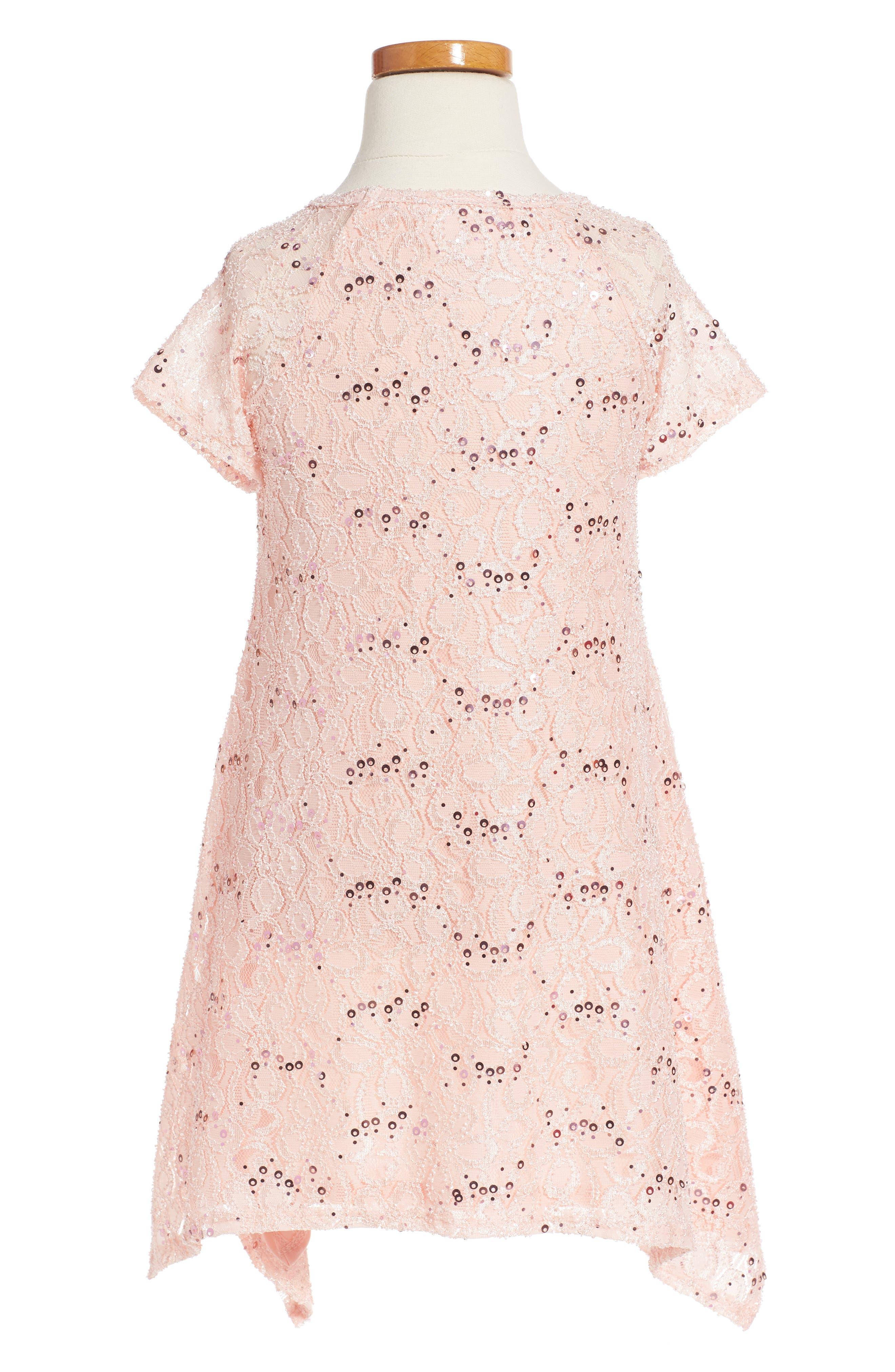 Lace Sequin Dress,                             Alternate thumbnail 2, color,                             683