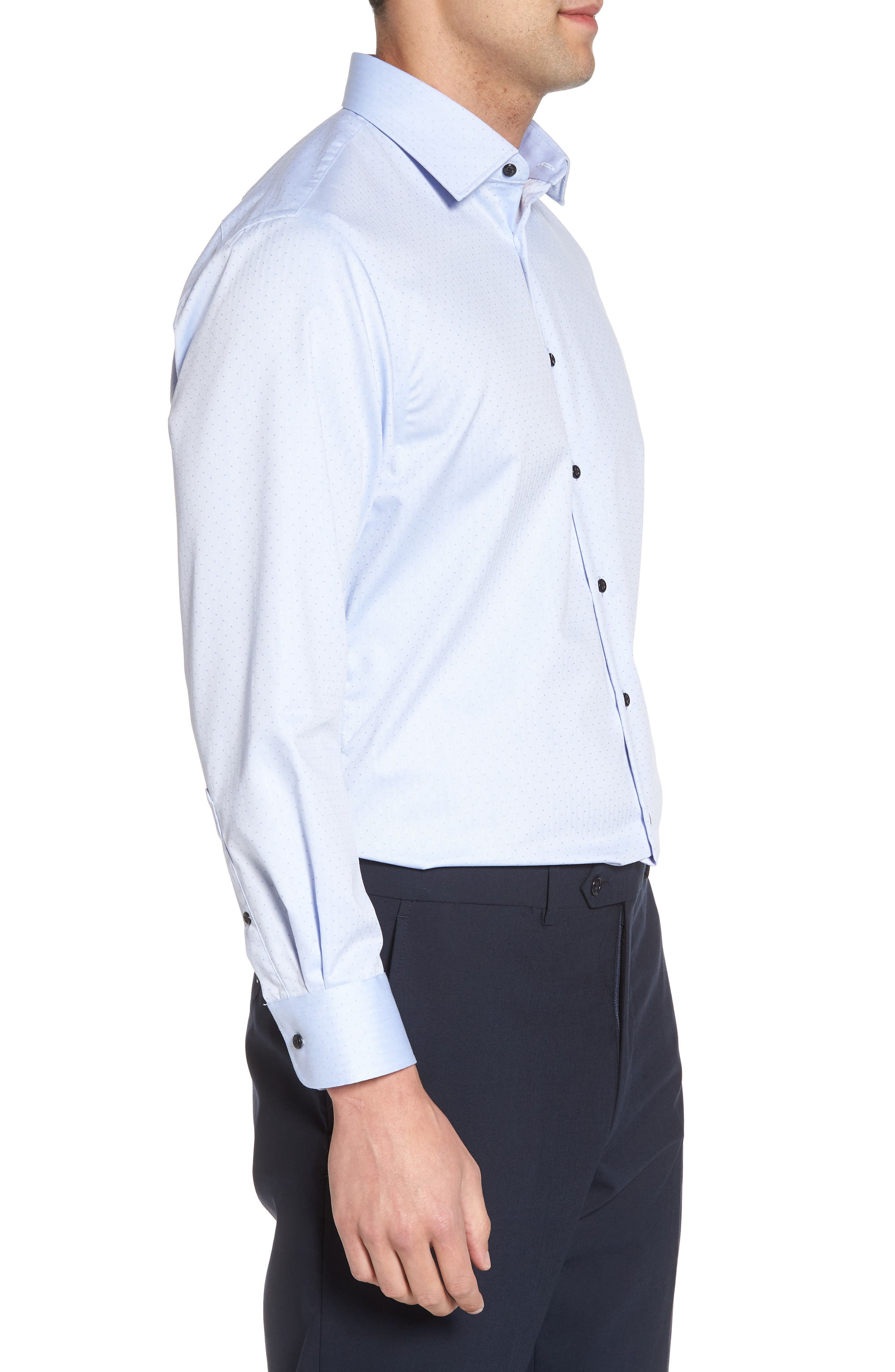 Traditional Fit Non-Iron Dress Shirt,                             Alternate thumbnail 8, color,
