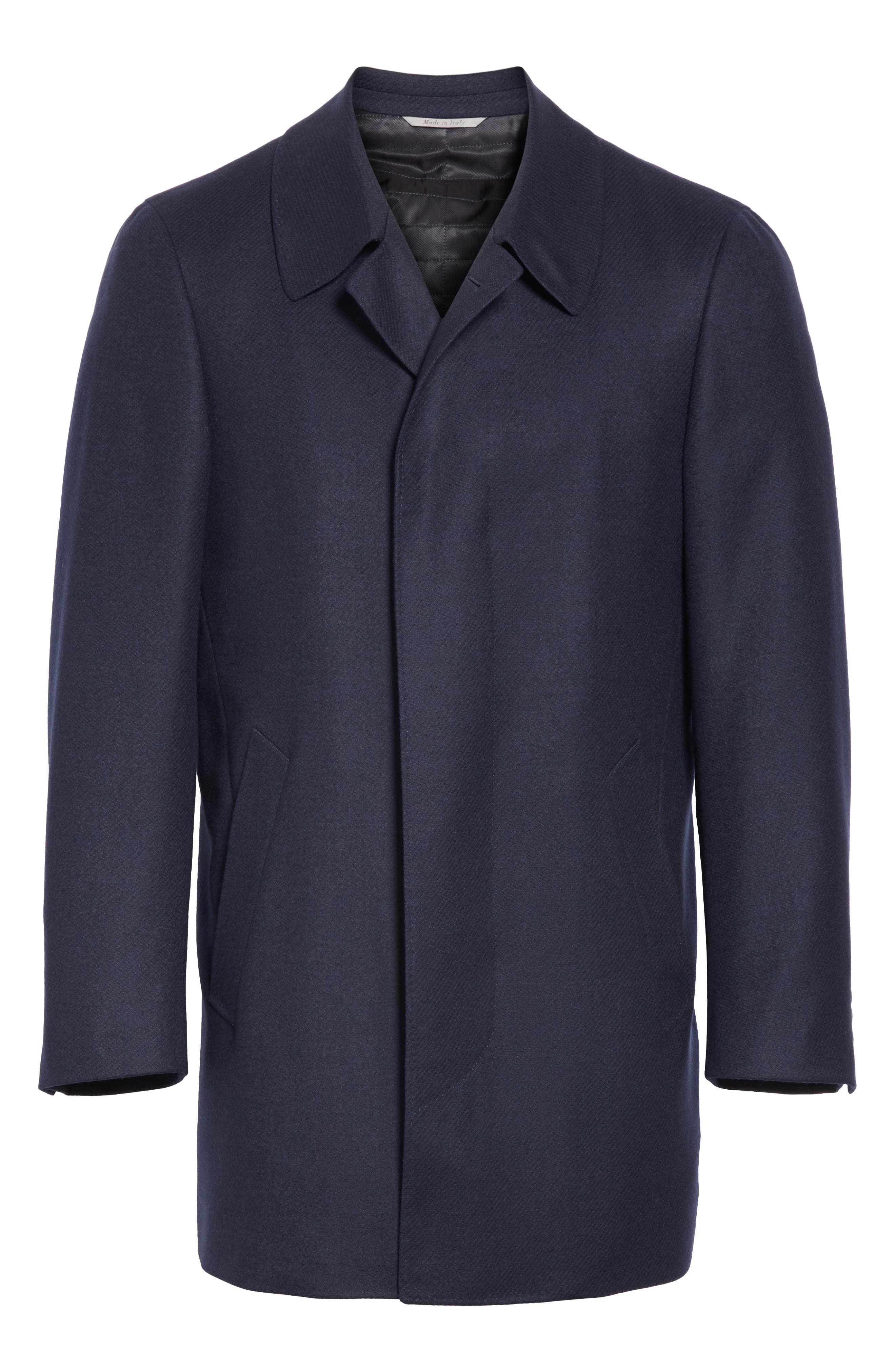 Impeccabile Wool Car Coat,                             Alternate thumbnail 5, color,                             NAVY