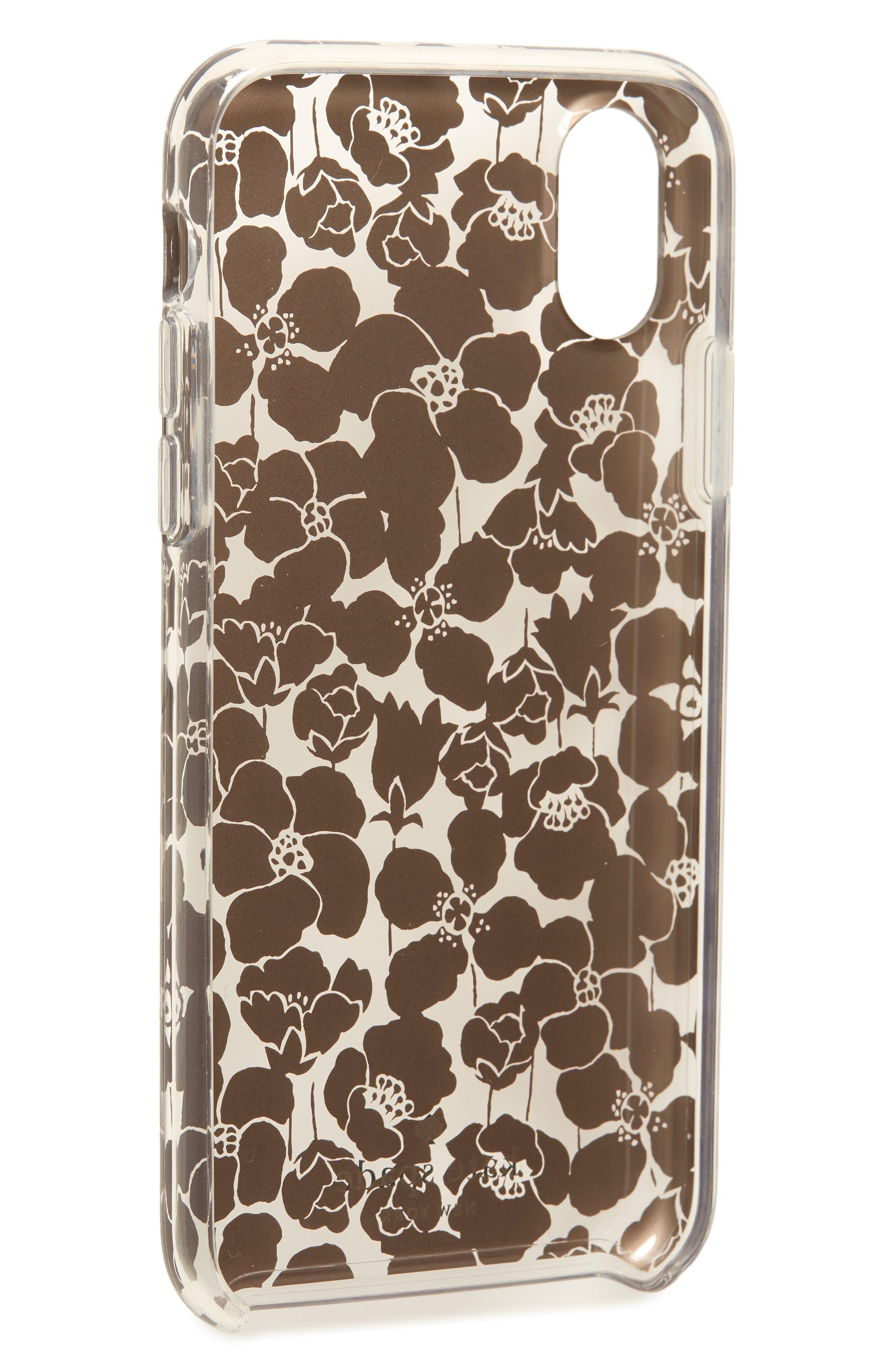 floret iPhone X/Xs, Xs Max & XR case,                             Alternate thumbnail 2, color,                             CLEAR MULTI
