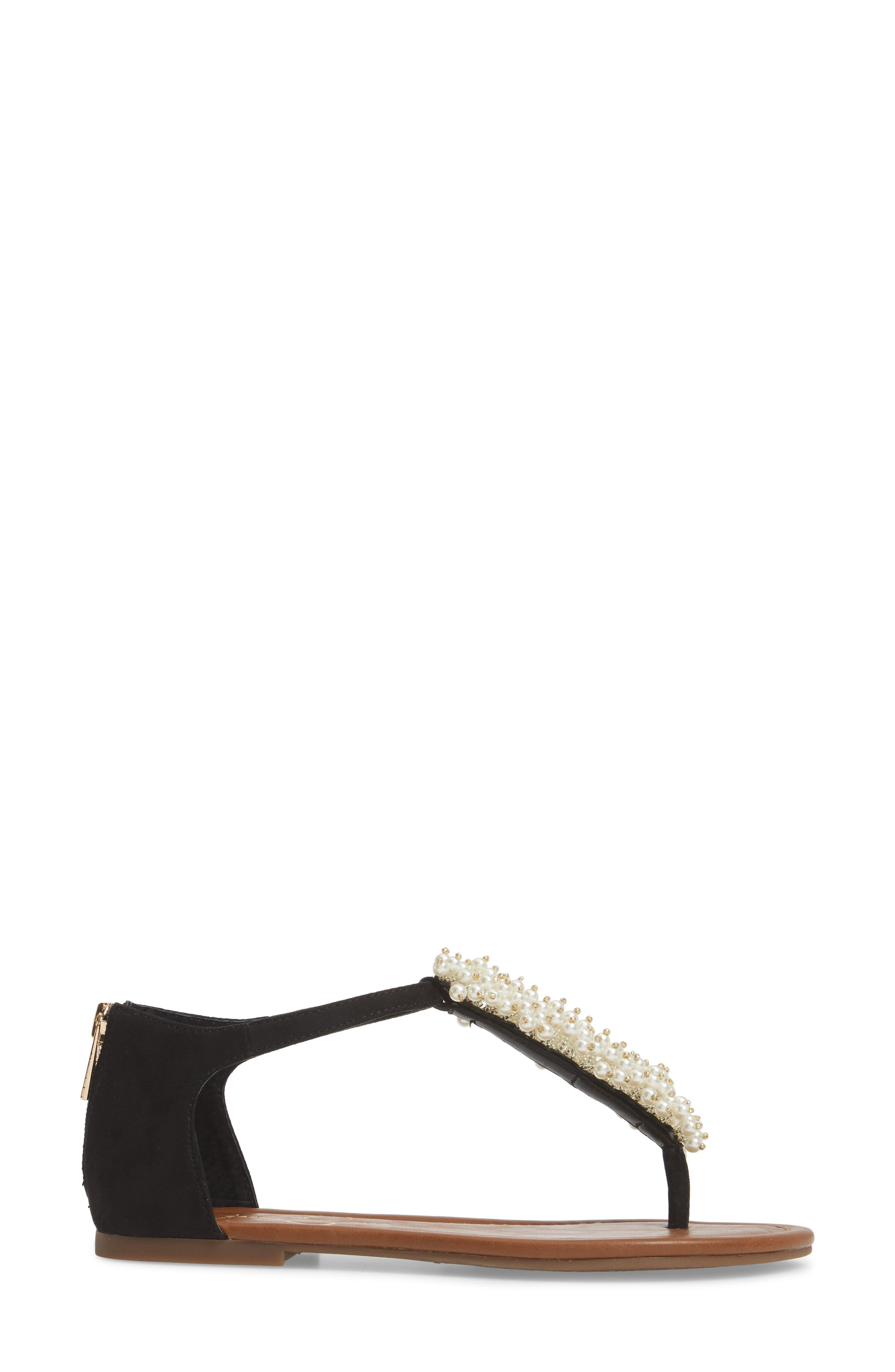 Kenton Crystal Embellished Sandal,                             Alternate thumbnail 3, color,                             001