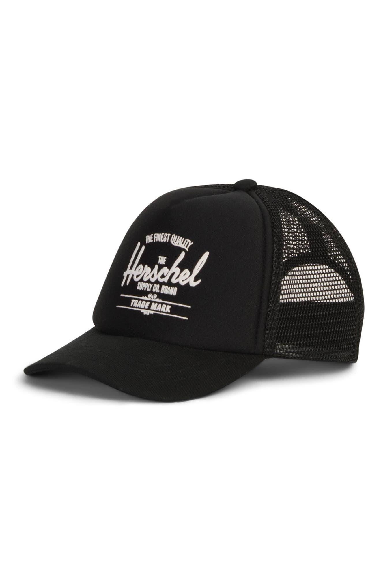 Sprout Whaler Mesh Hat,                         Main,                         color, BLACK