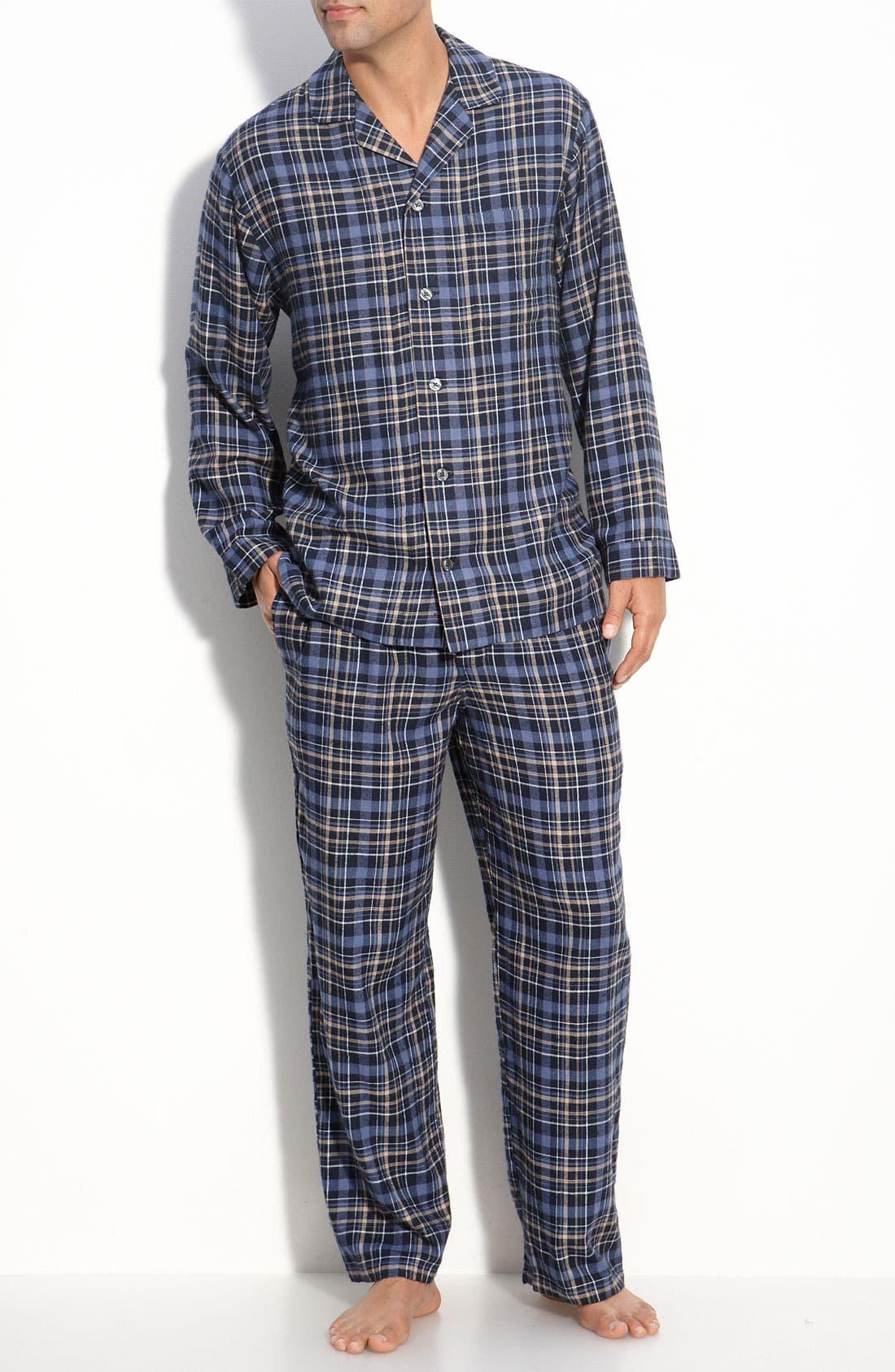 '824' Flannel Pajama Set,                             Main thumbnail 25, color,