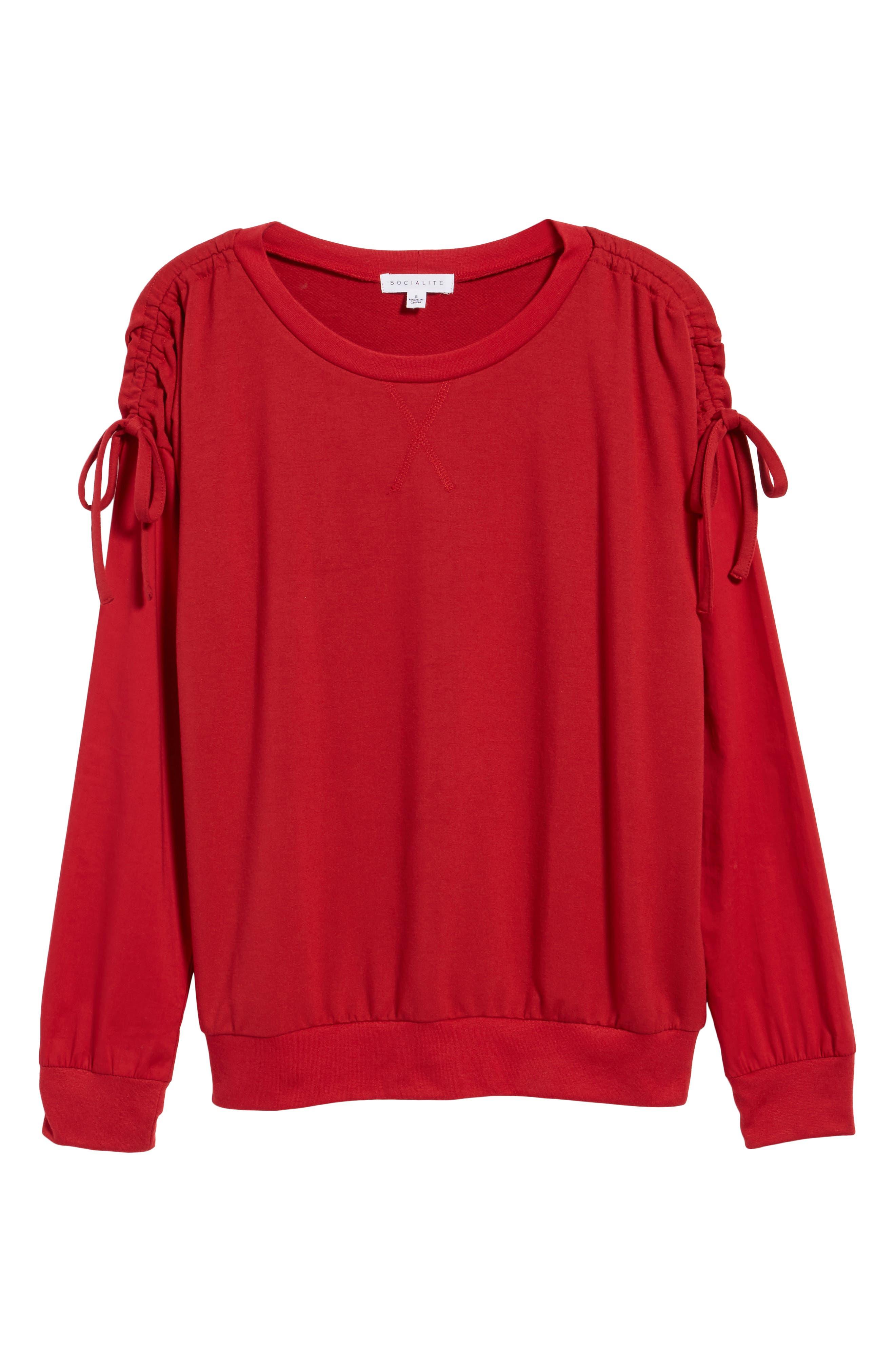 Cinch Sleeve Sweatshirt,                             Alternate thumbnail 6, color,                             603