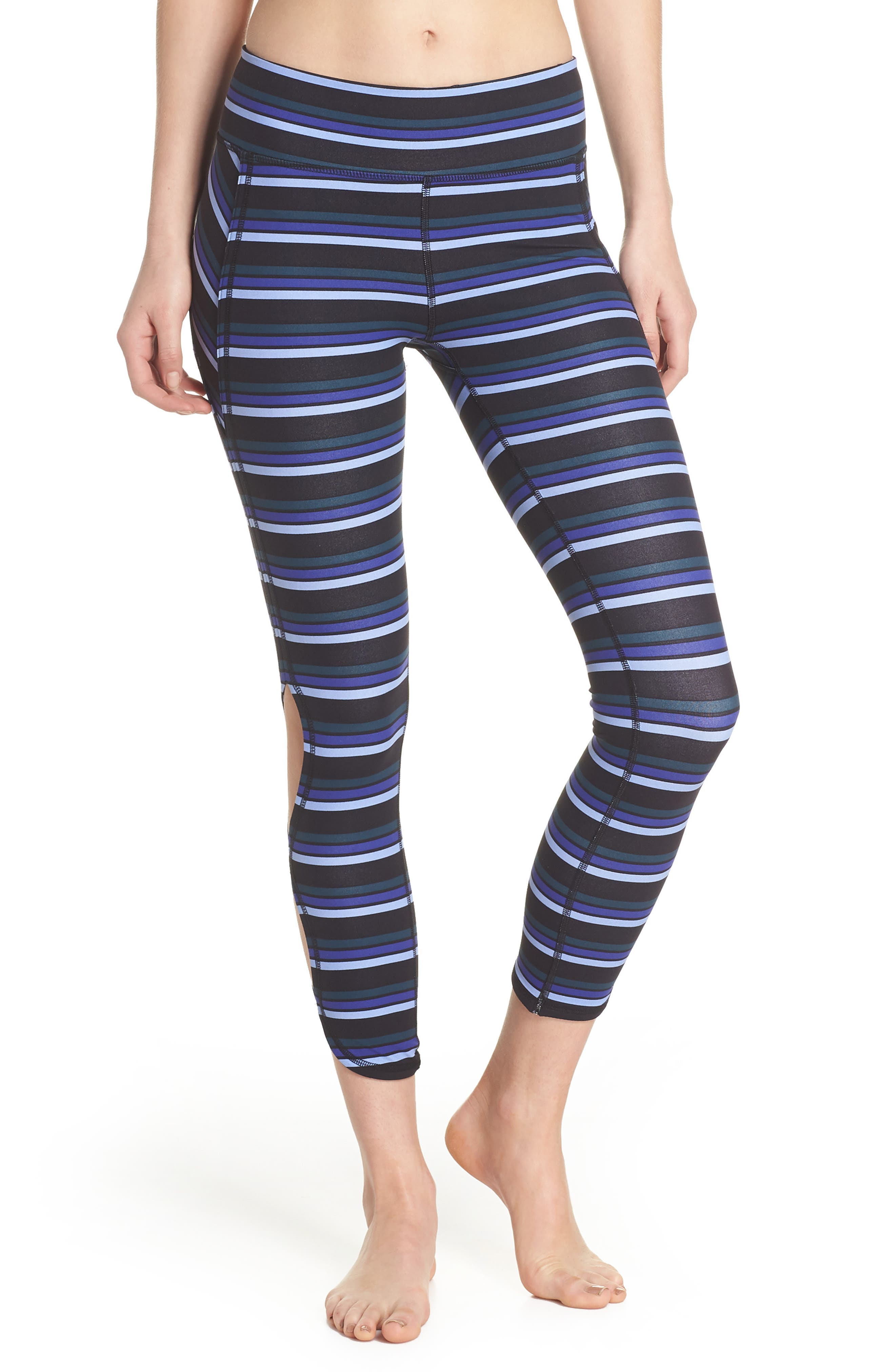 FREE PEOPLE MOVEMENT,                             Stripe Infinity Leggings,                             Main thumbnail 1, color,                             001
