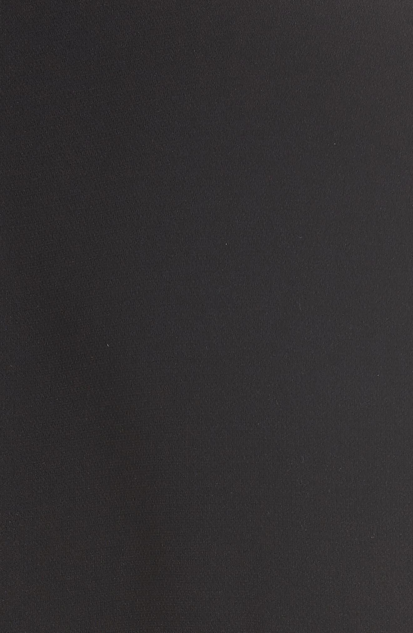 DVF,                             Diane von Furstenberg Crossover Belted Jumpsuit,                             Alternate thumbnail 5, color,                             001