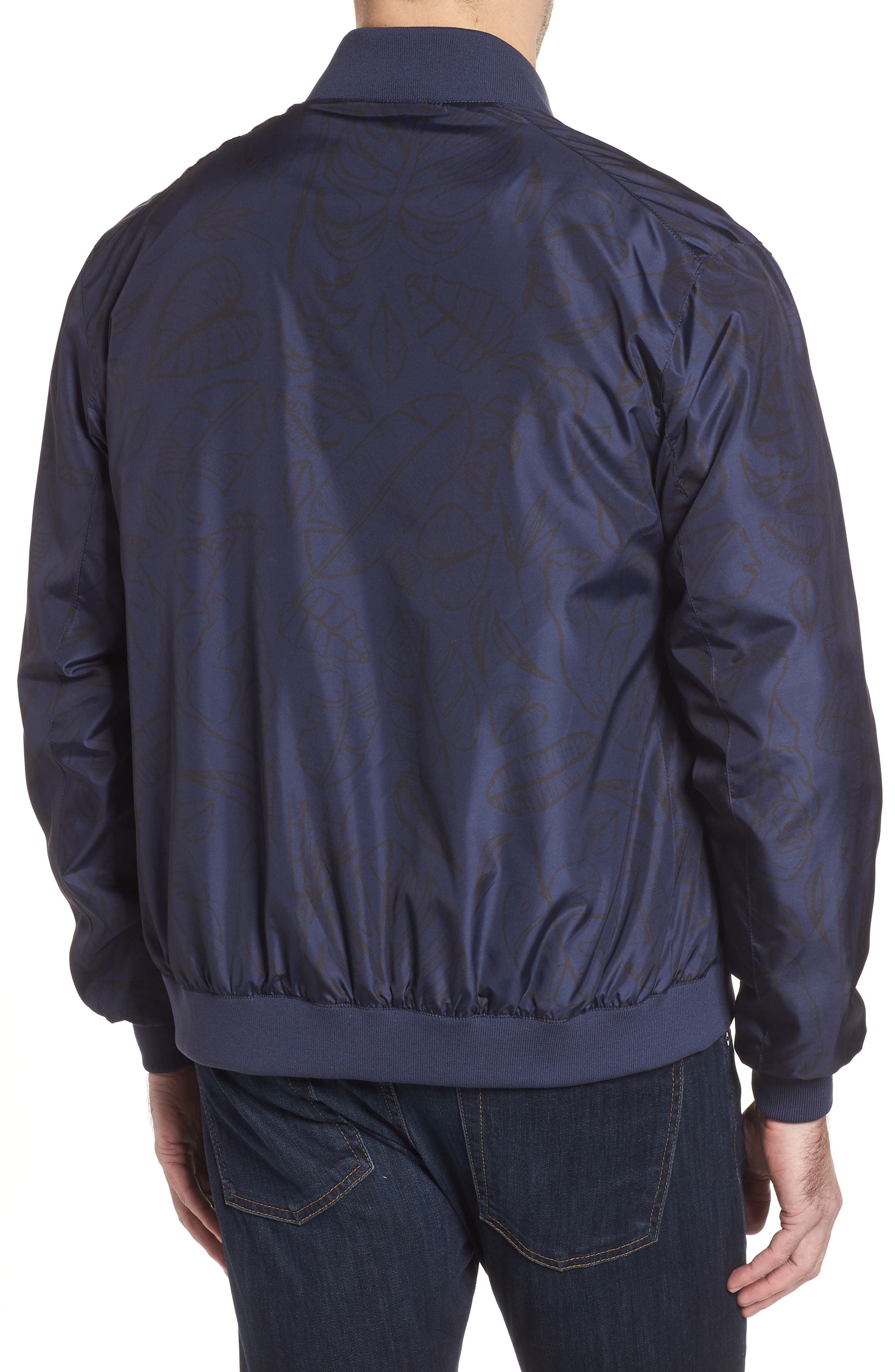 Print Water Repellent Bomber Jacket,                             Alternate thumbnail 2, color,                             411