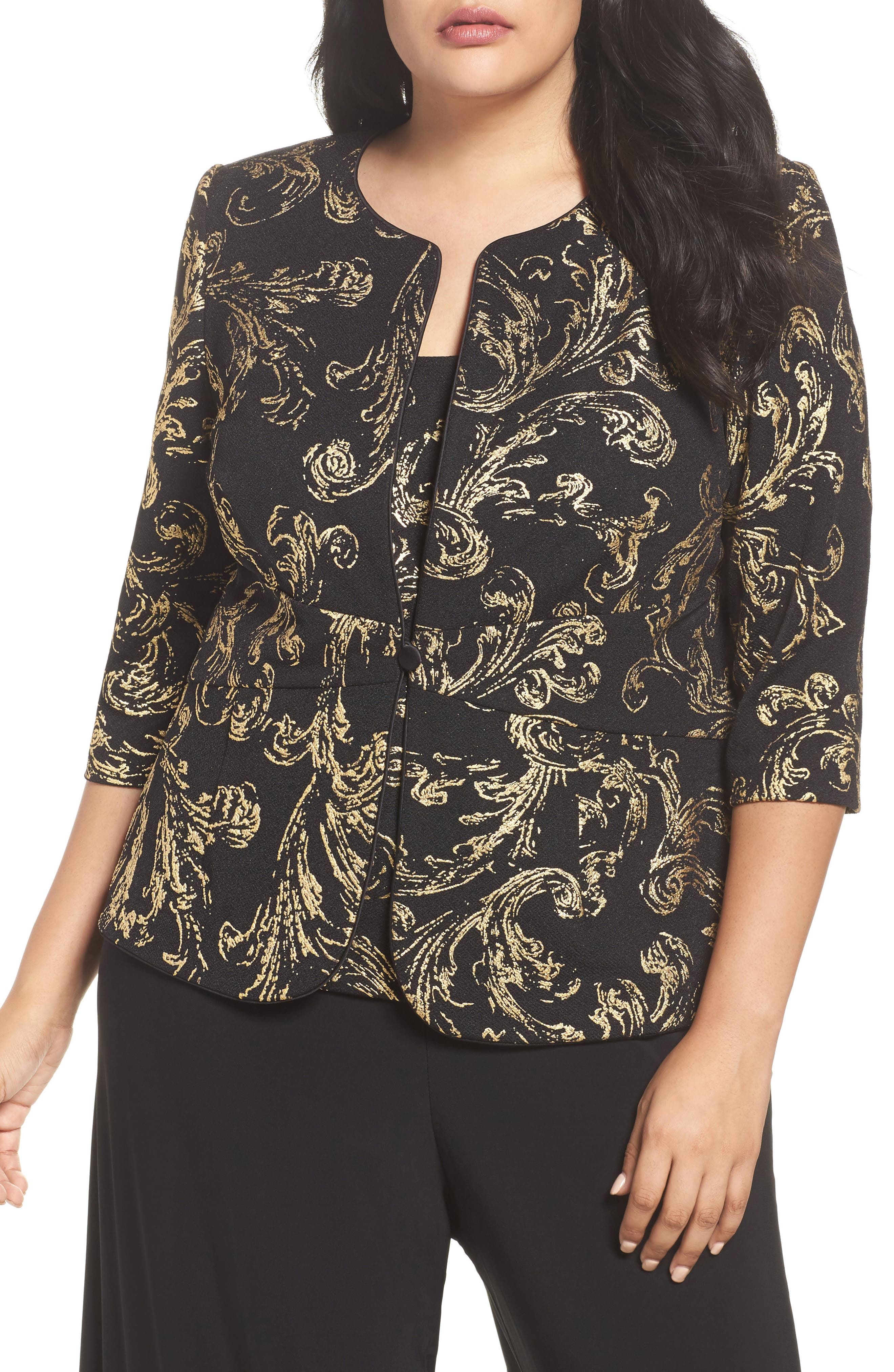 Foiled Print Twinset,                         Main,                         color, 003