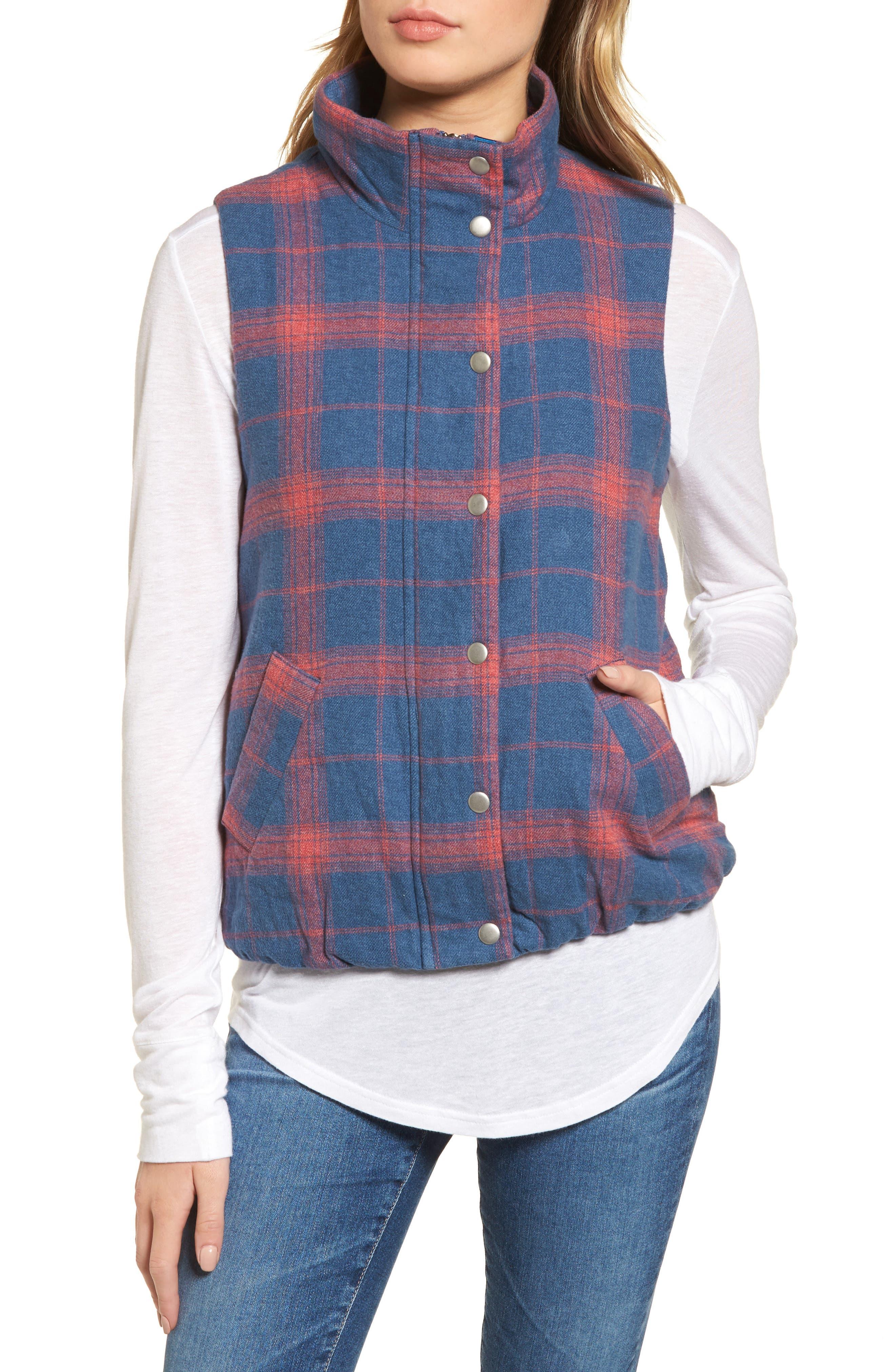 Plaid Flannel Vest,                             Alternate thumbnail 4, color,