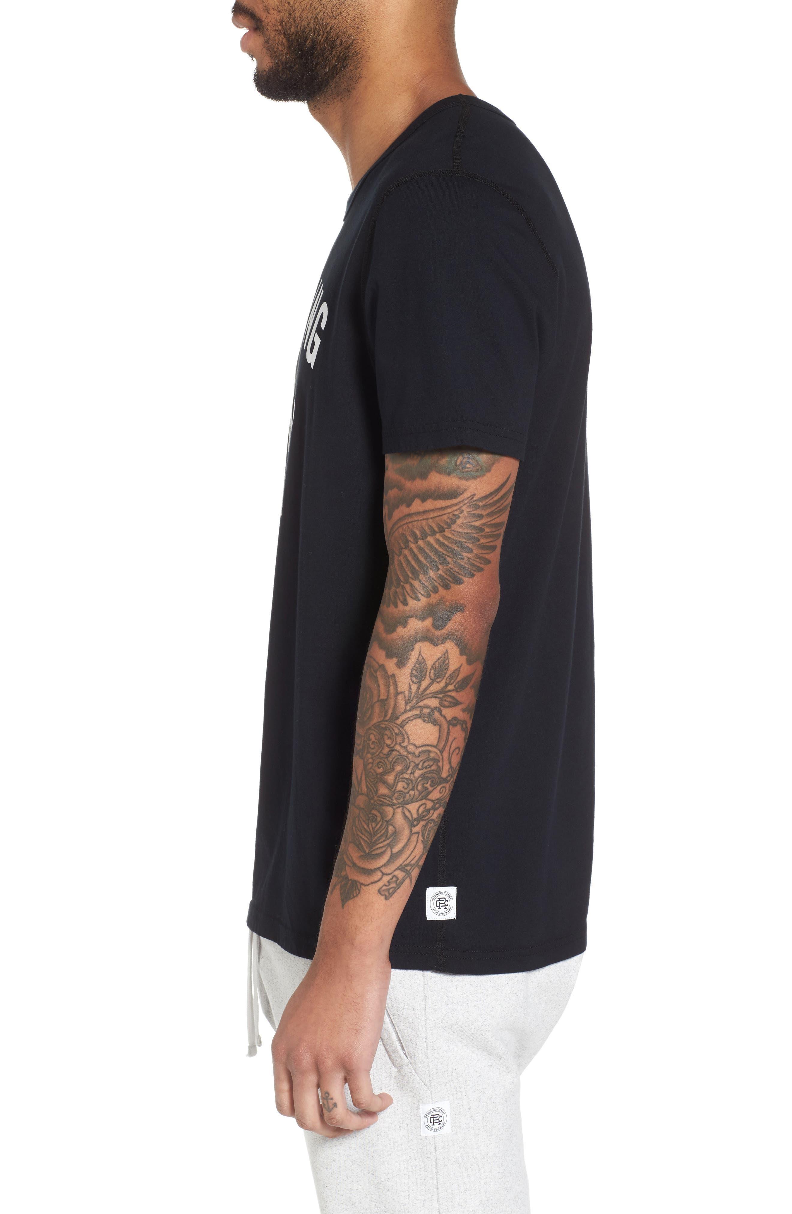 Gym Logo T-Shirt,                             Alternate thumbnail 3, color,                             BLACK/ WHITE