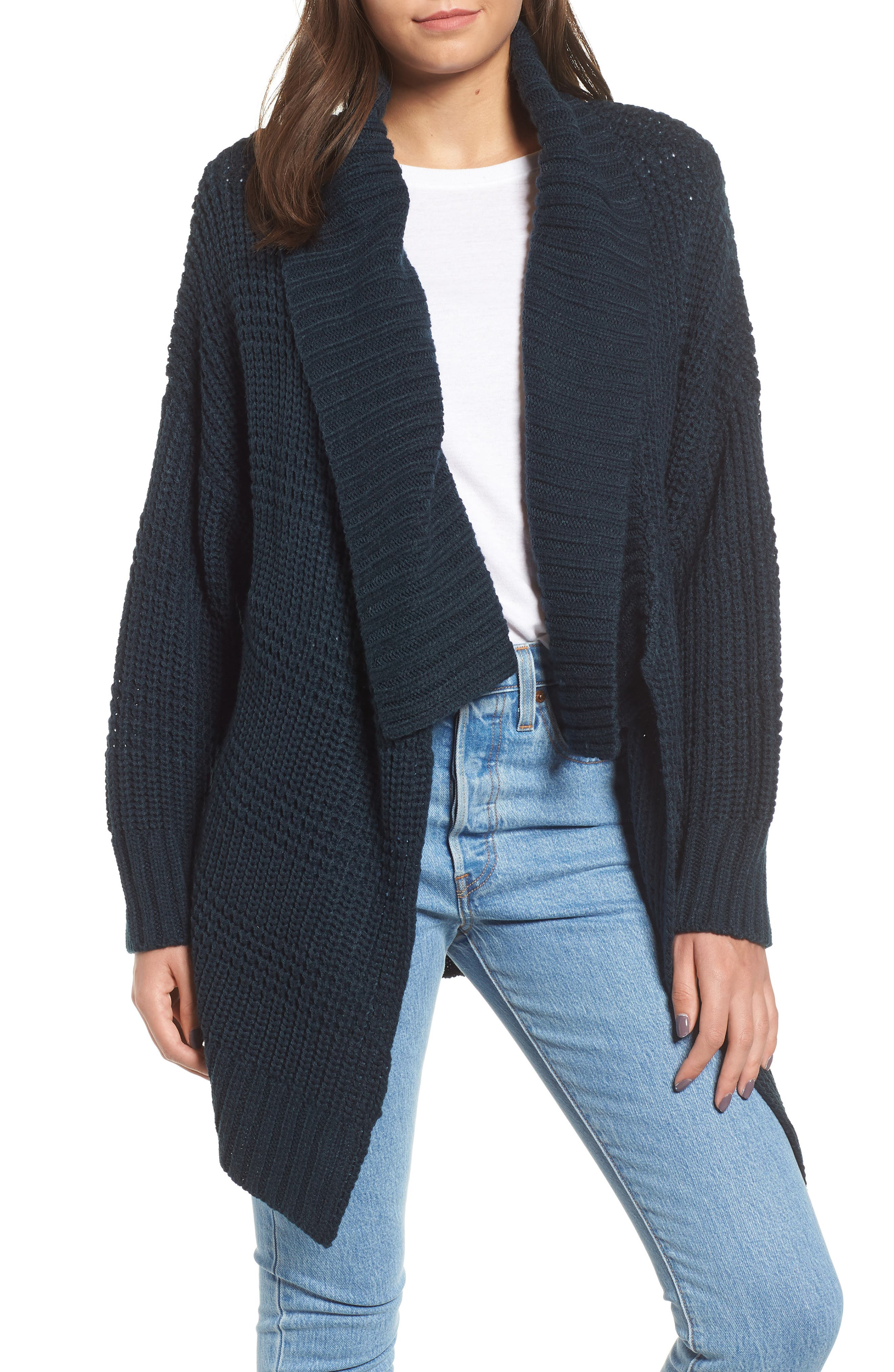 RVCA This Is It Cardigan in Carbon