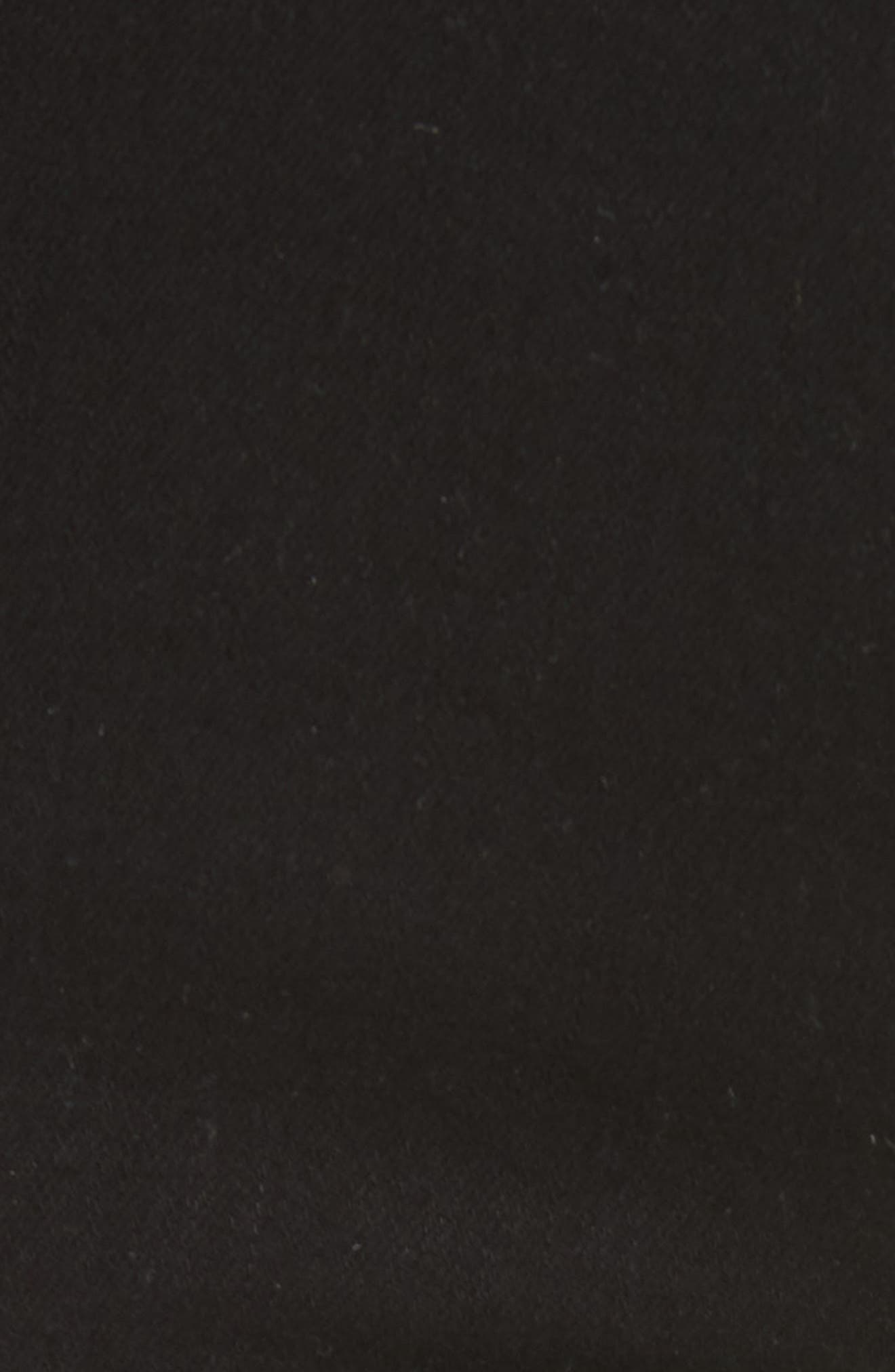 'Le High Straight' High Rise Crop Jeans,                             Alternate thumbnail 6, color,                             FILM NOIR