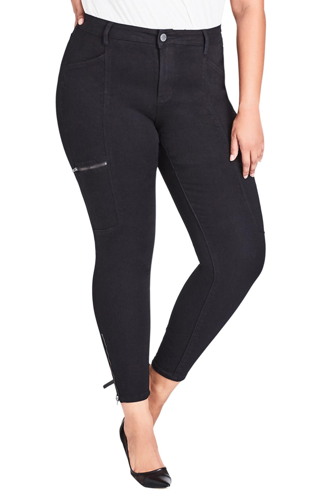 Plus Size City Chic Cargo Classic Pants, Black