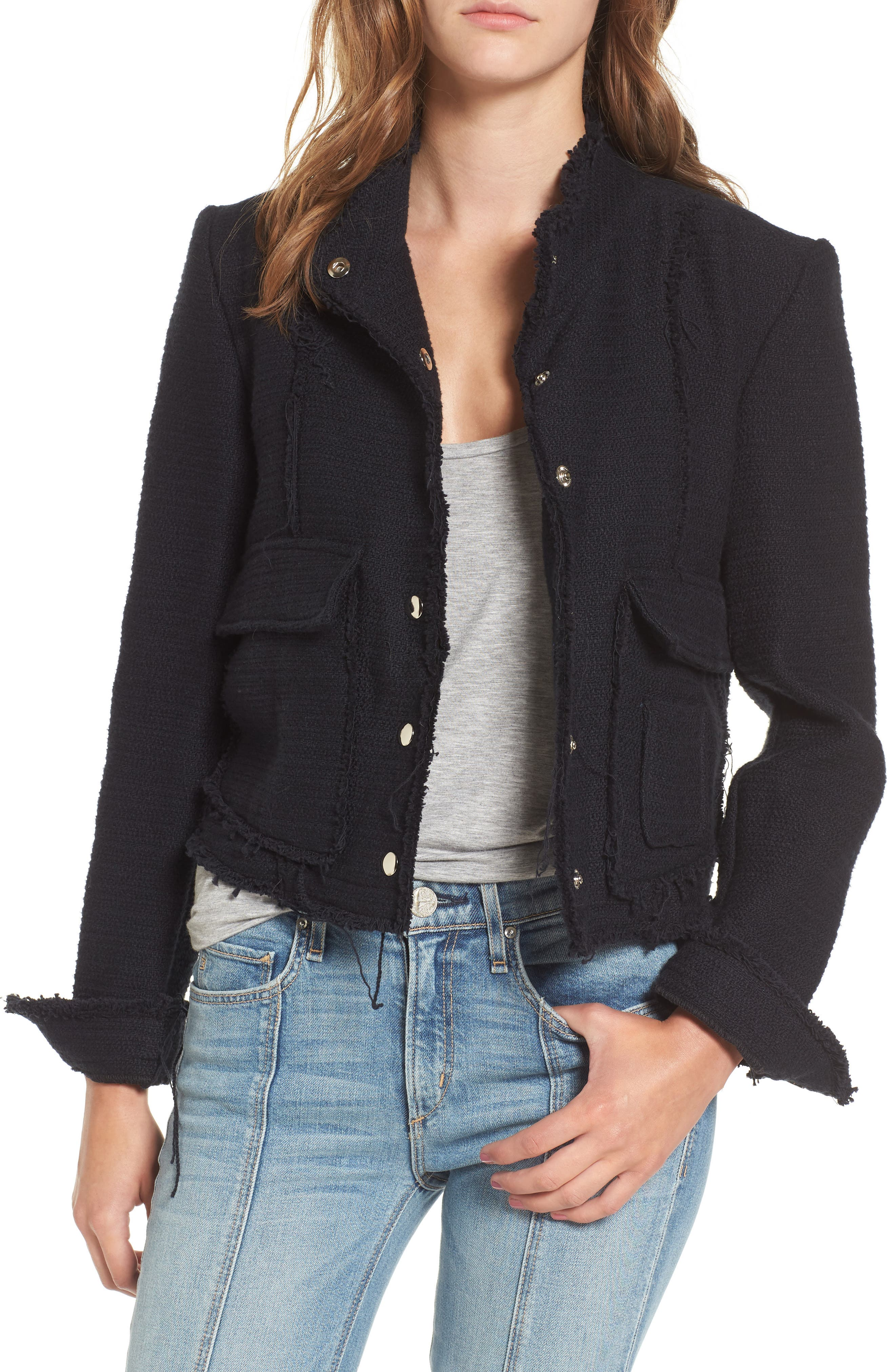 Bloombury Crop Cotton Jacket,                             Main thumbnail 1, color,                             400
