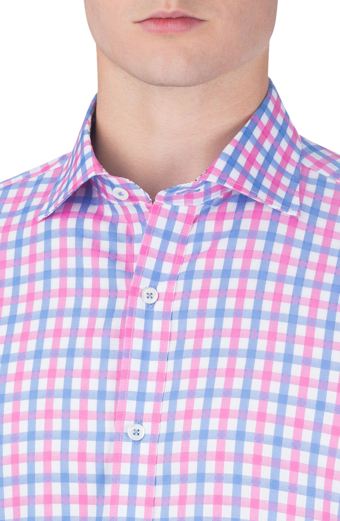 Shaped Fit Check Sport Shirt,                             Alternate thumbnail 3, color,                             682