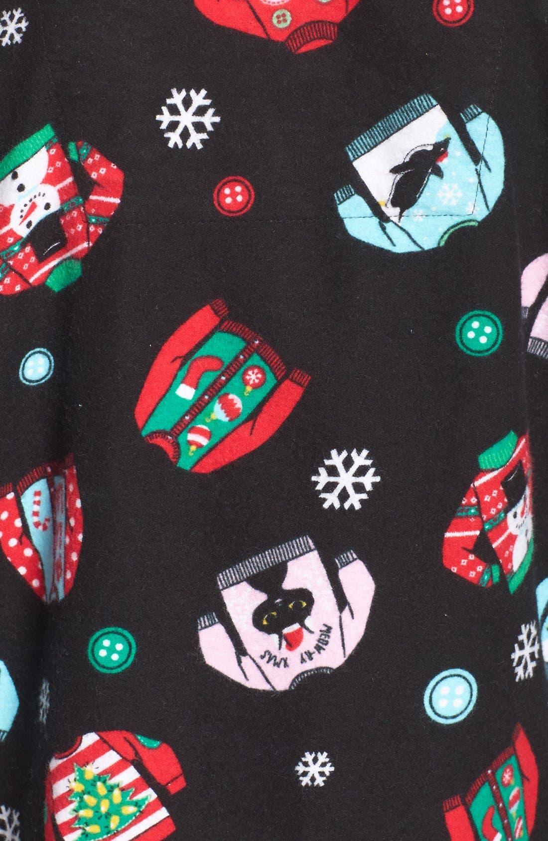 Print Flannel Pajamas,                             Alternate thumbnail 5, color,                             001