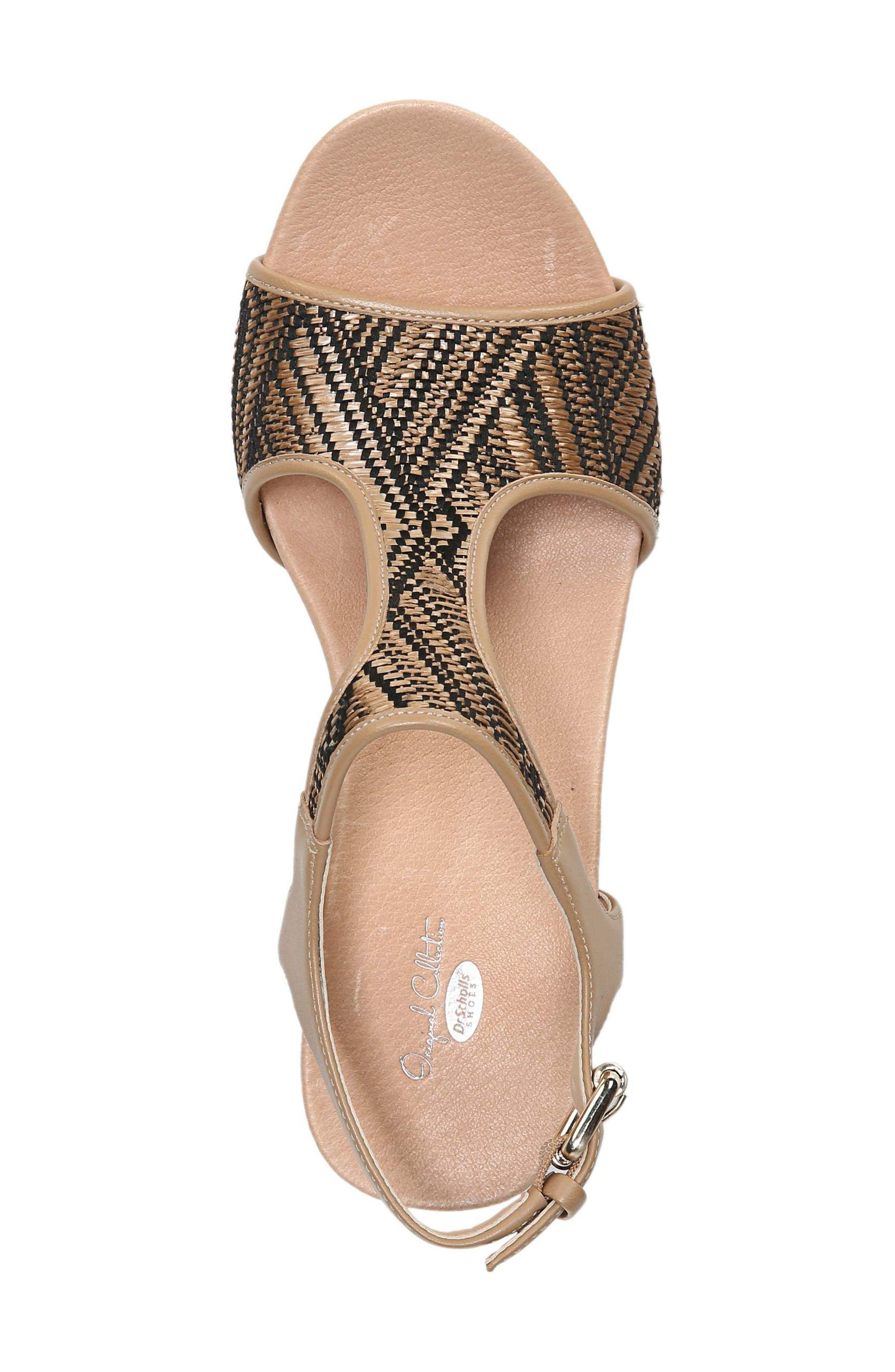 'Original Collection Wiley' Wedge Sandal,                             Alternate thumbnail 5, color,                             NUDE