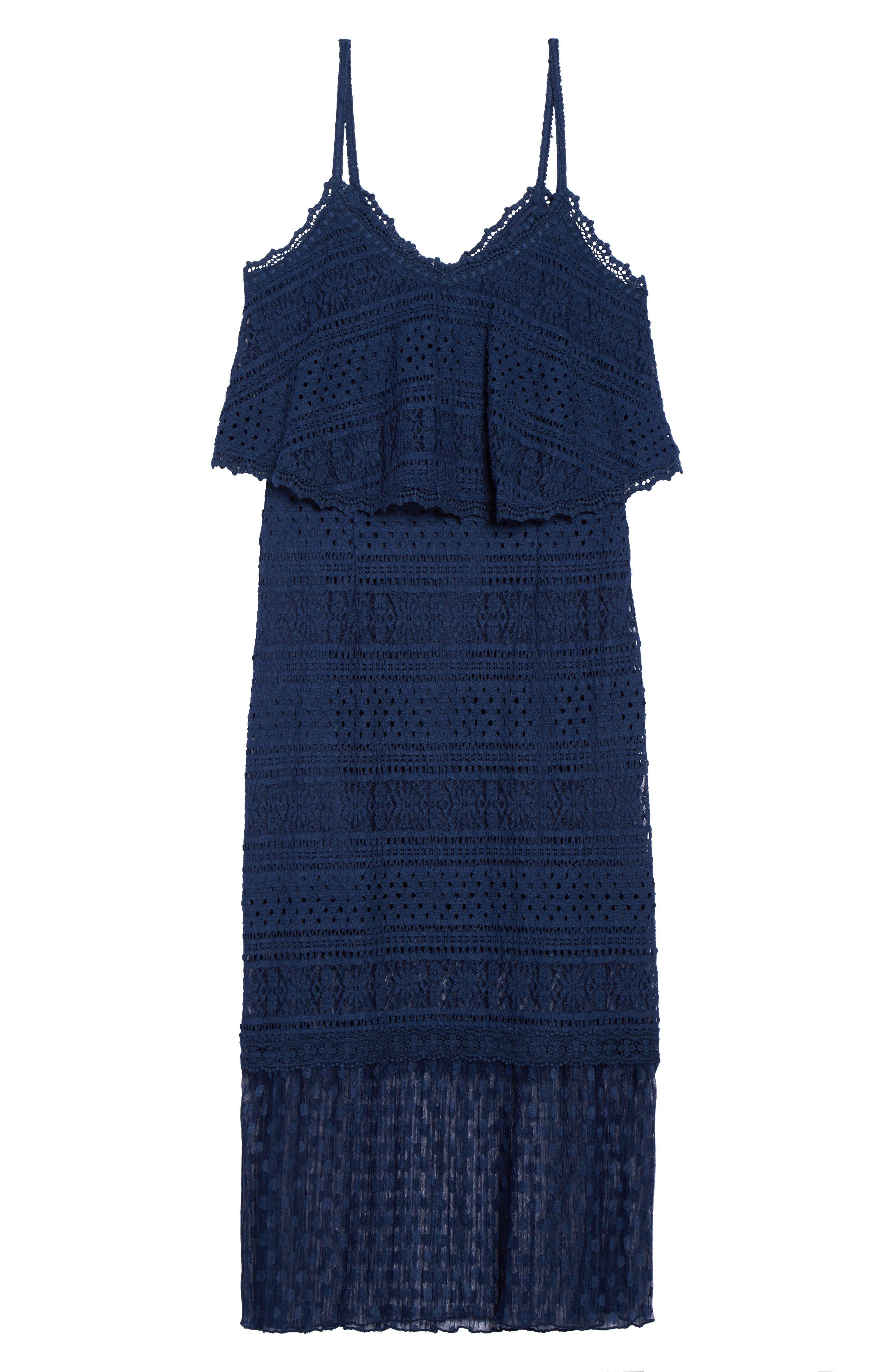 Ellie Lace Midi Dress,                             Alternate thumbnail 6, color,                             414