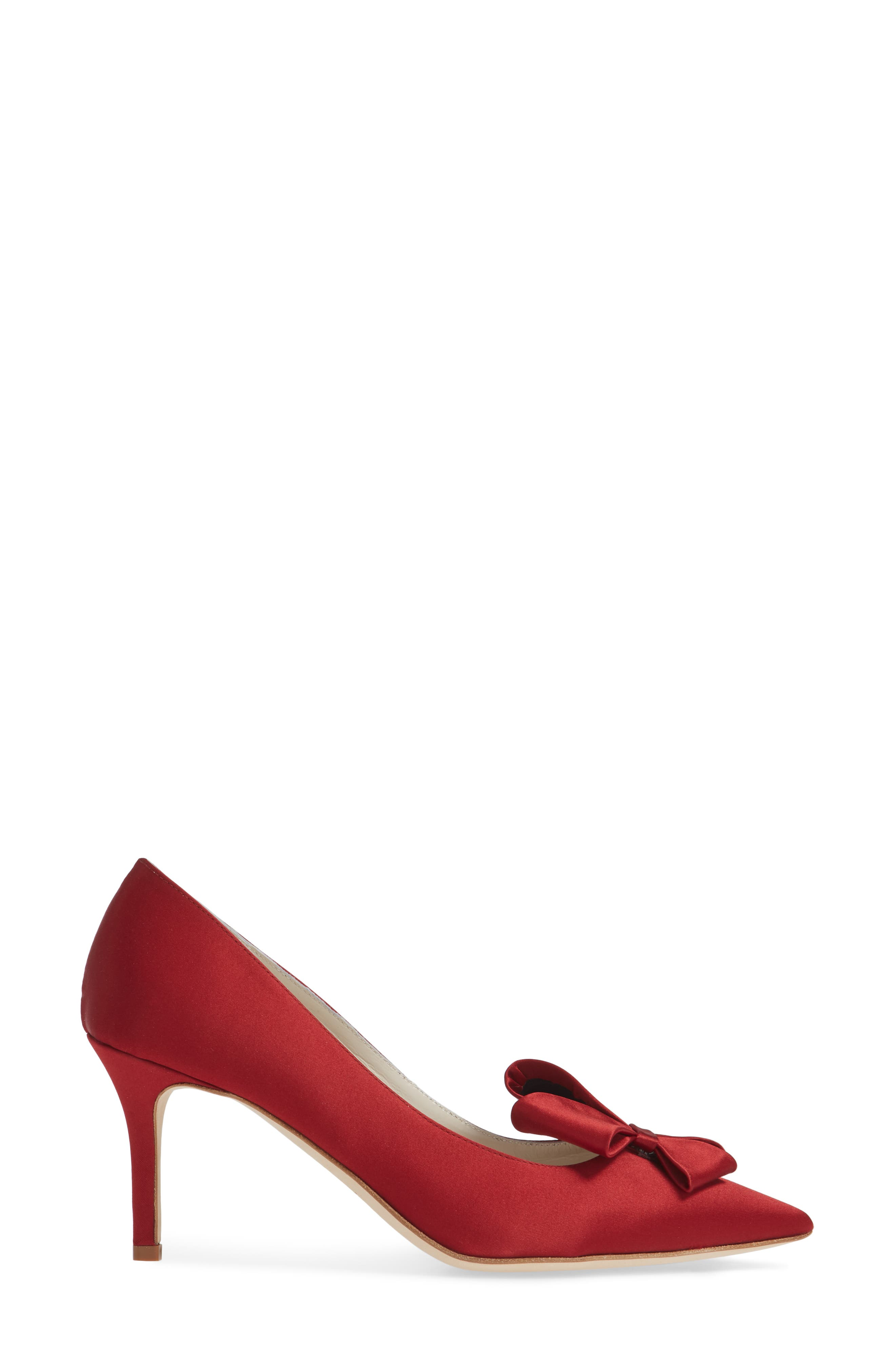 SOMETHING BLEU,                             Caitlin Bow Pointy Toe Pump,                             Alternate thumbnail 3, color,                             LIPSTICK MOIRE