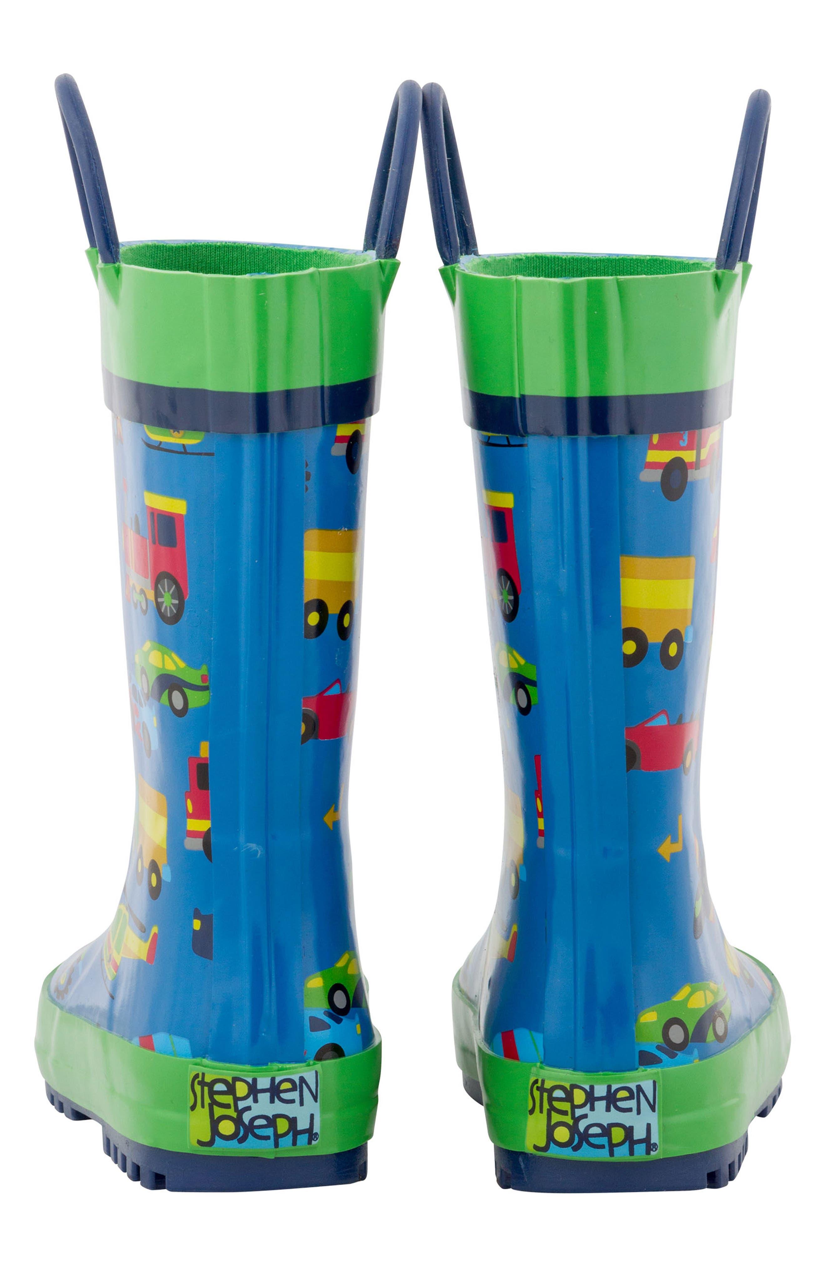 Transportation Rain Boots & Umbrella Set,                             Alternate thumbnail 2, color,                             TRANSPORTATION