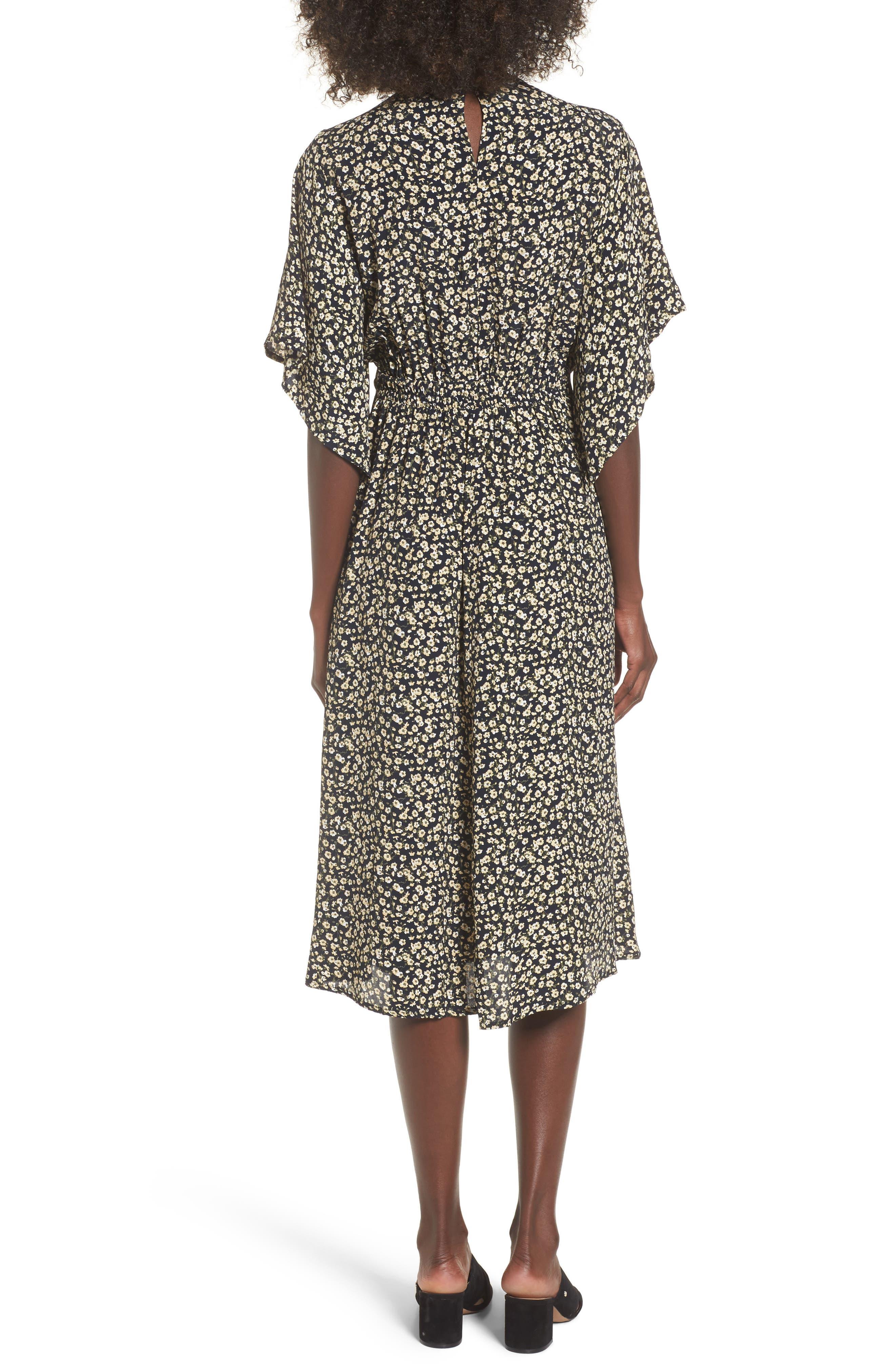 Massimo Tie Front Midi Dress,                             Alternate thumbnail 2, color,                             700