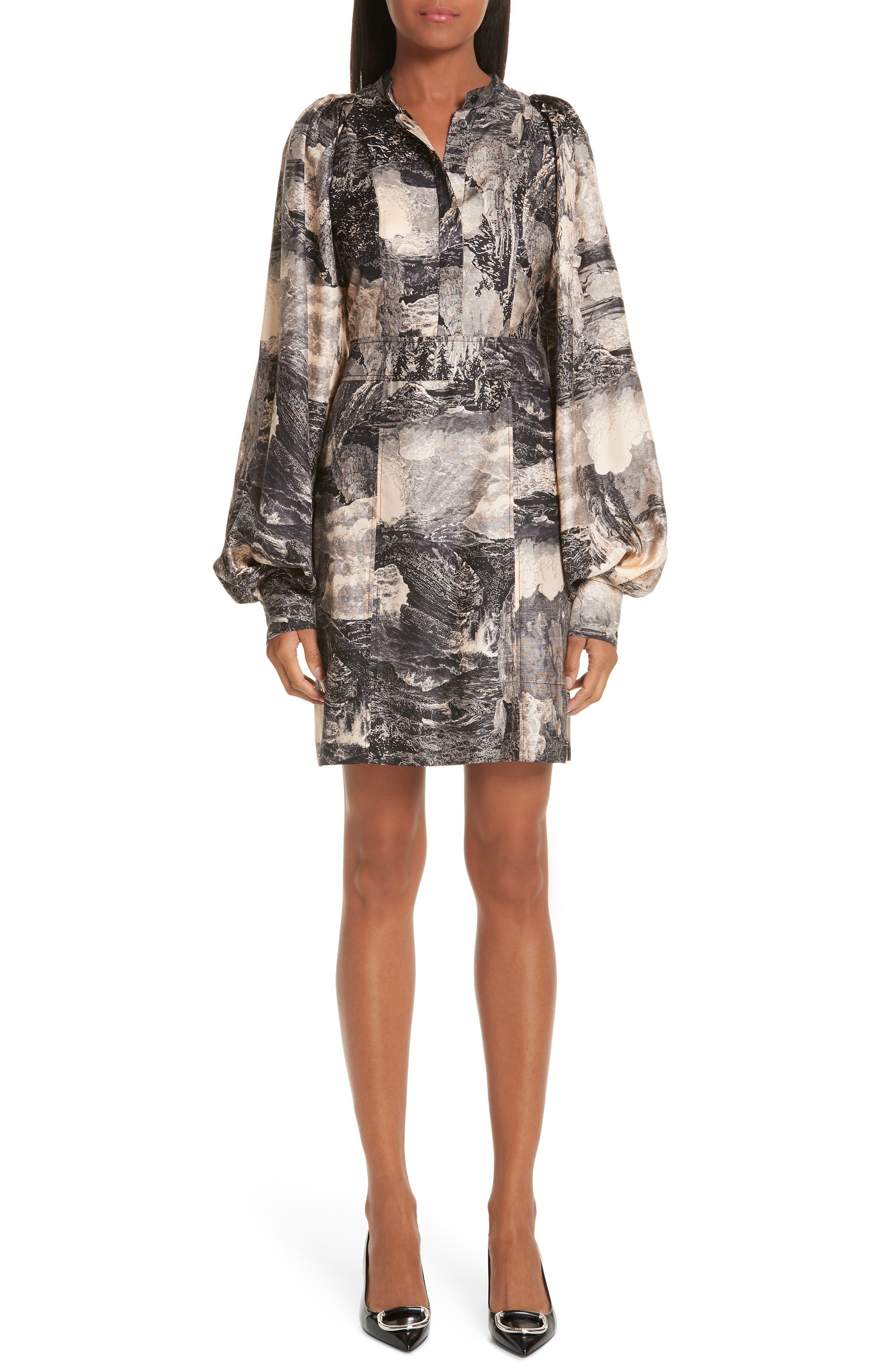 Pascala Silk Dress,                         Main,                         color, PALE APRICOT