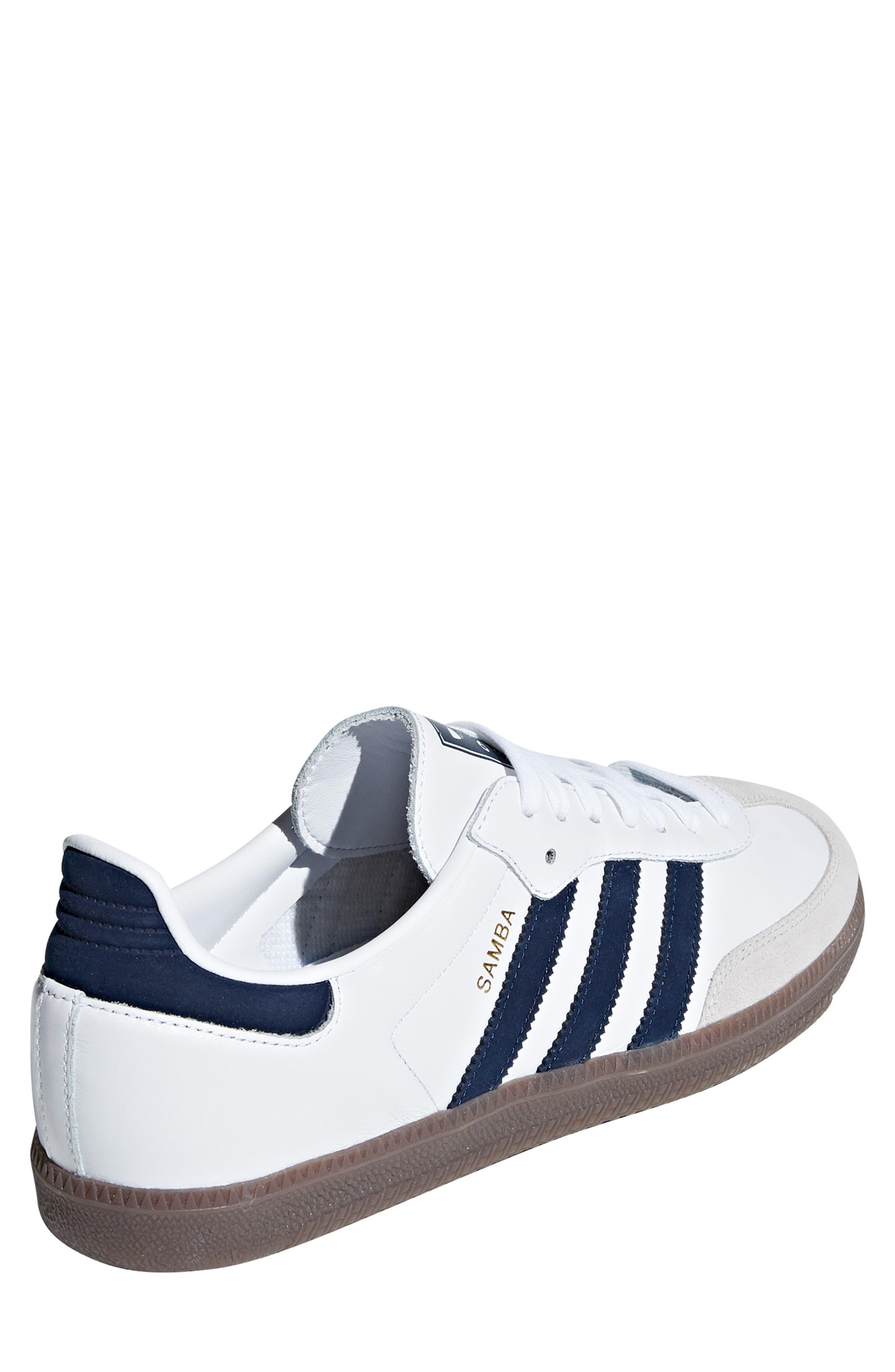 Samba OG Sneaker,                             Alternate thumbnail 2, color,                             WHITE/ NAVY / CRYSTAL WHITE