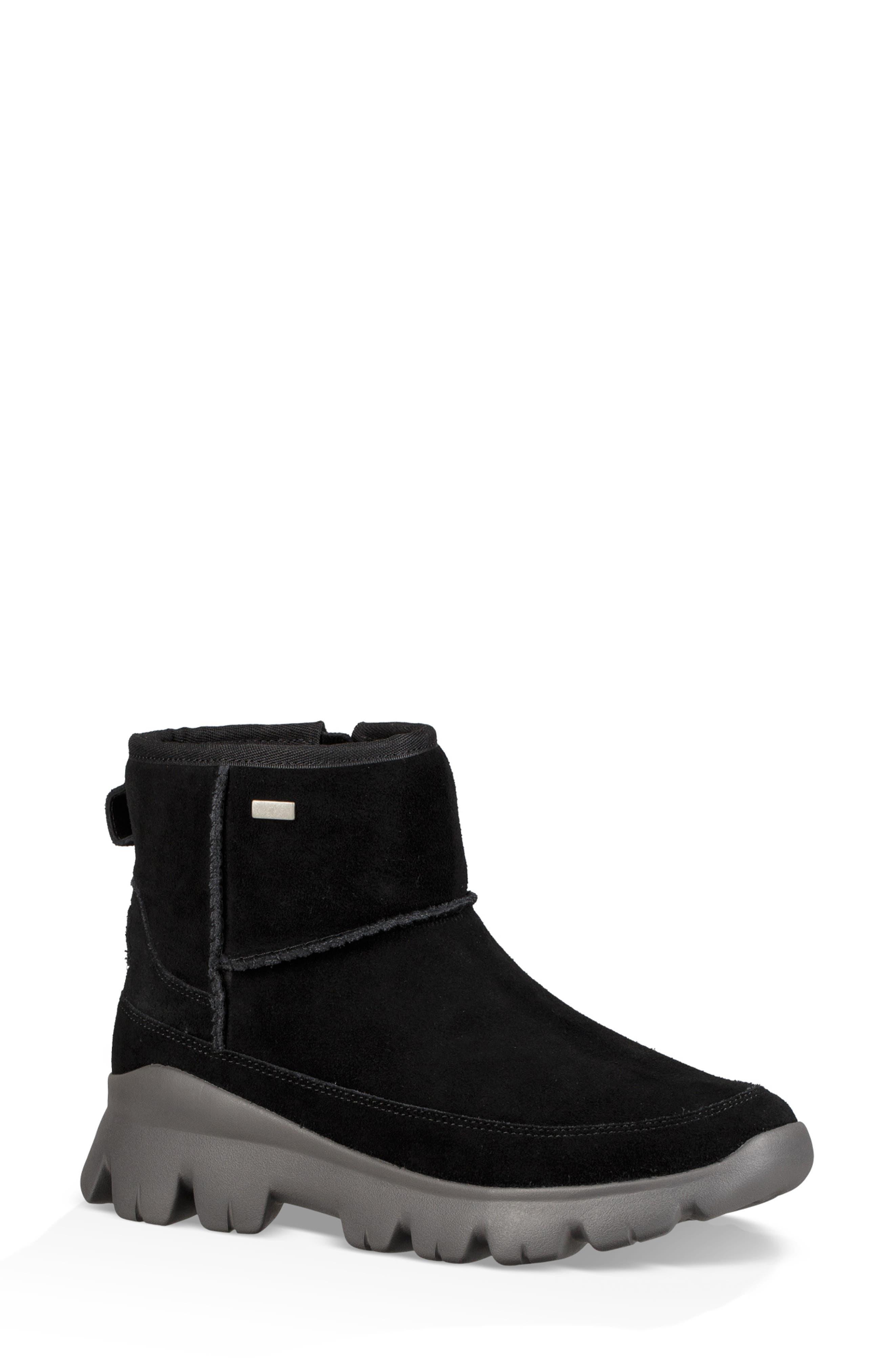 Palomar Waterproof Sneaker Bootie,                         Main,                         color, BLACK/ CHARCOAL SUEDE