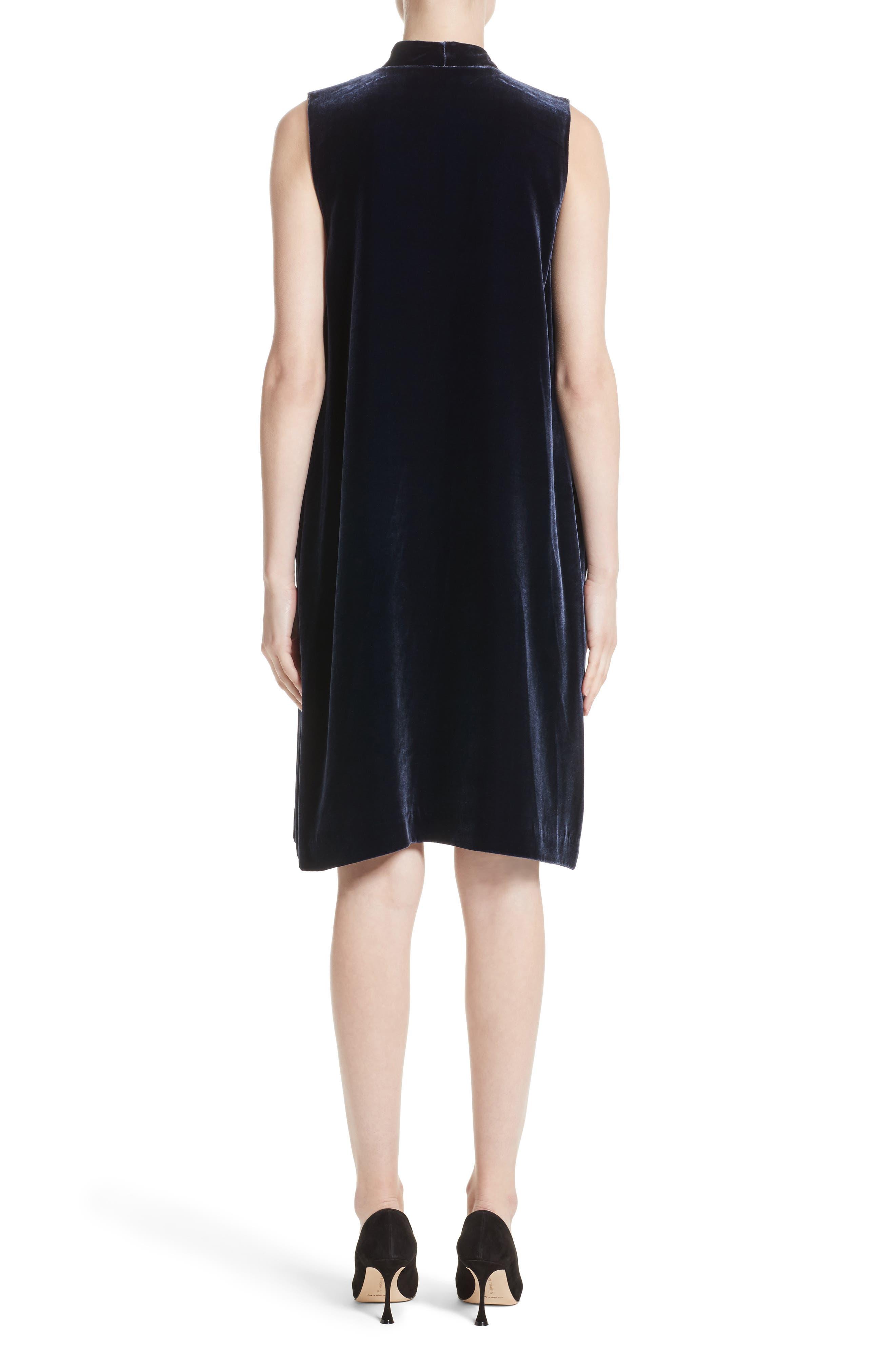 Ronan Velvet Dress,                             Alternate thumbnail 4, color,