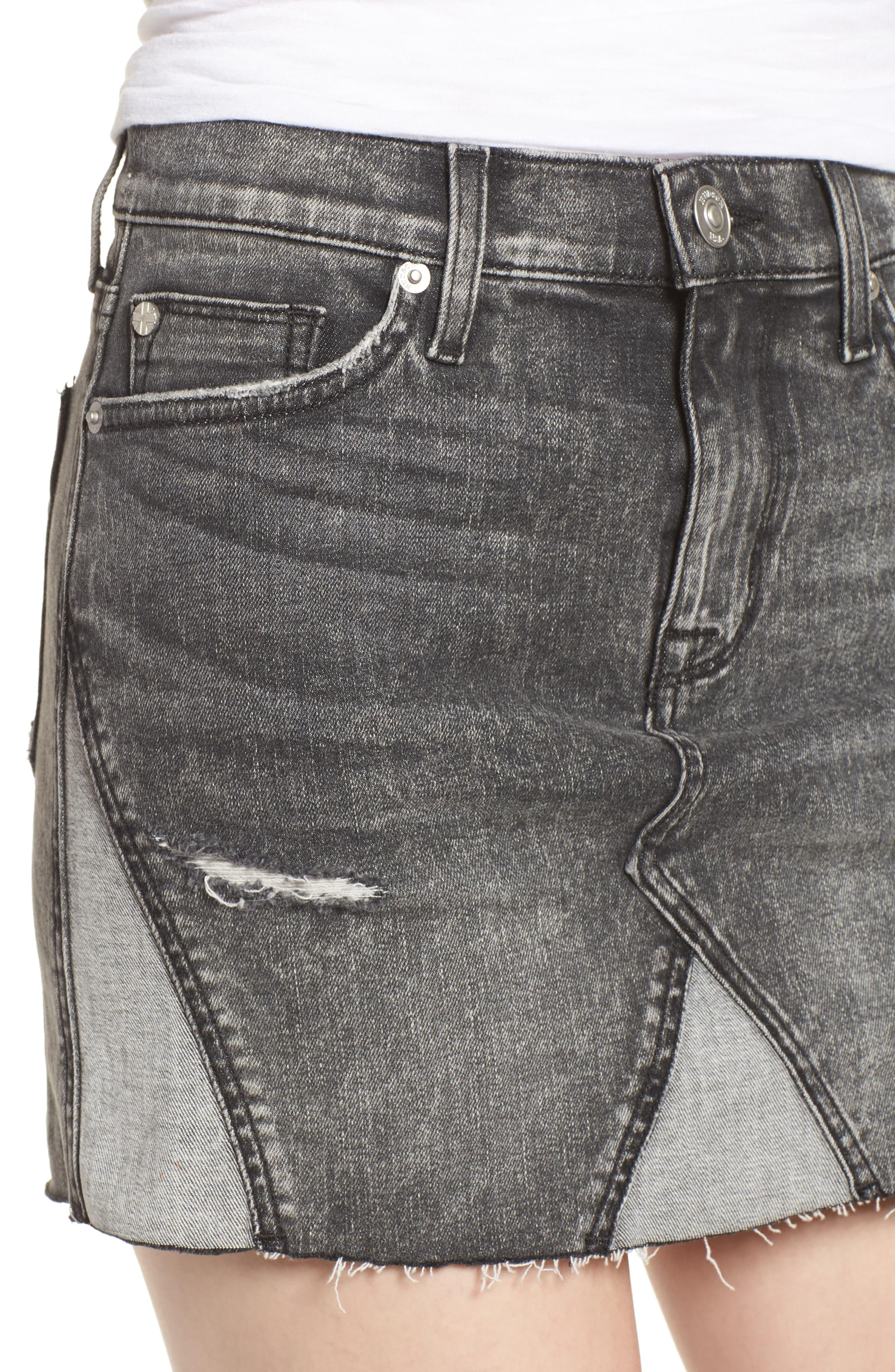 The Viper Cutoff Denim Miniskirt,                             Alternate thumbnail 4, color,                             OLD SCHOOL