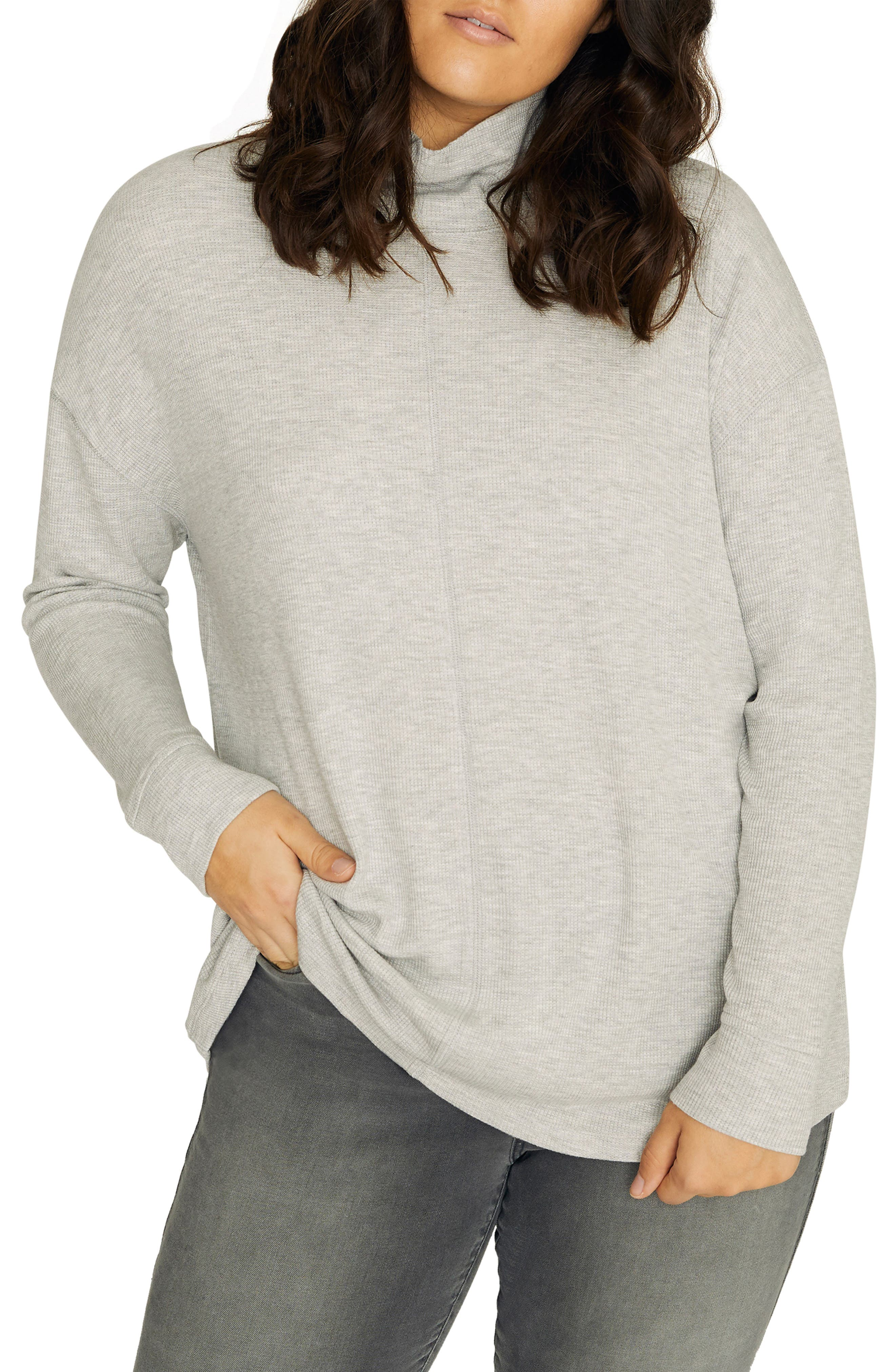 Plus Size Sanctuary Highroad Thermal Tee, Grey