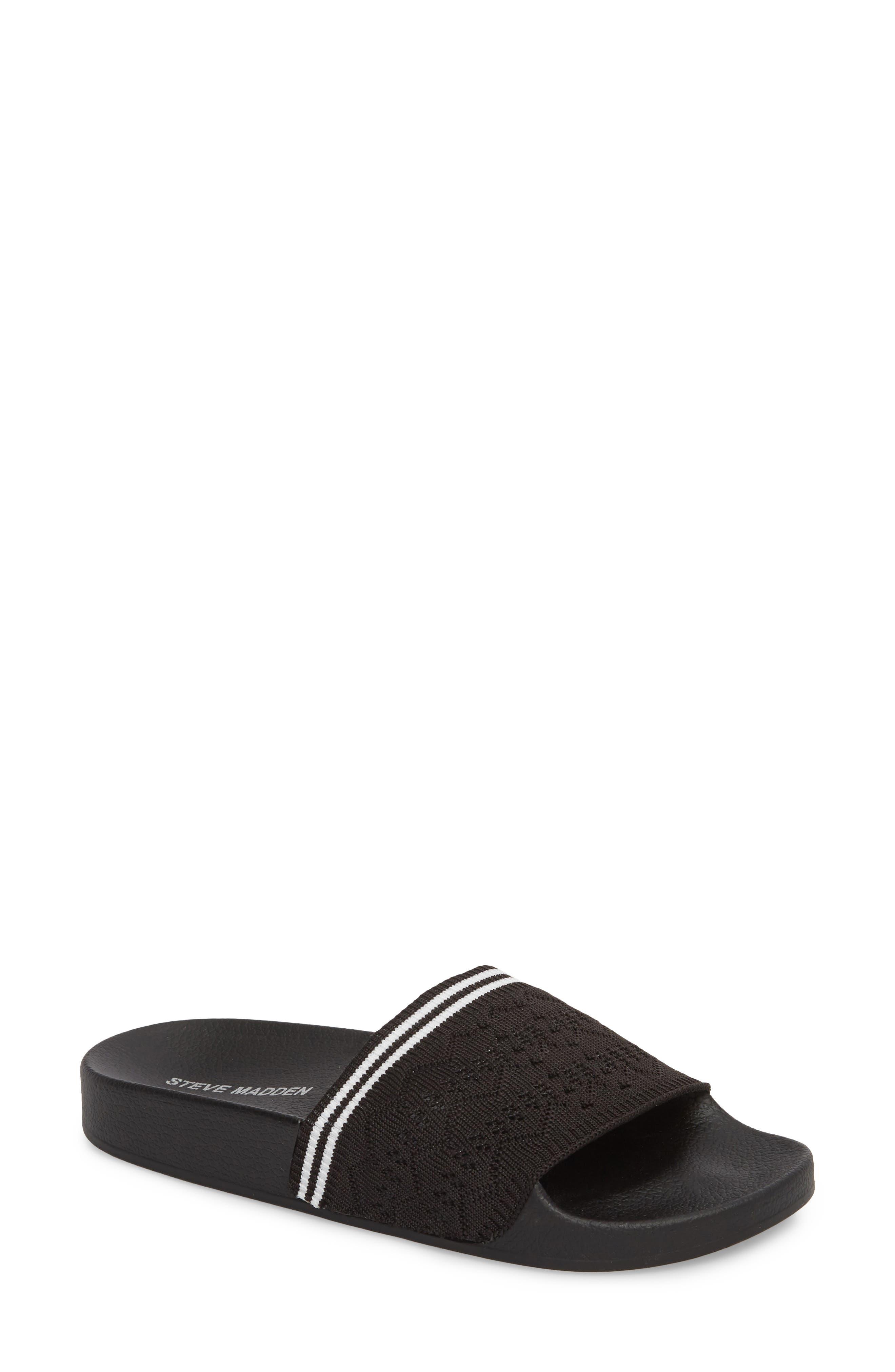 Vibe Sock Knit Slide Sandal,                             Main thumbnail 1, color,                             001