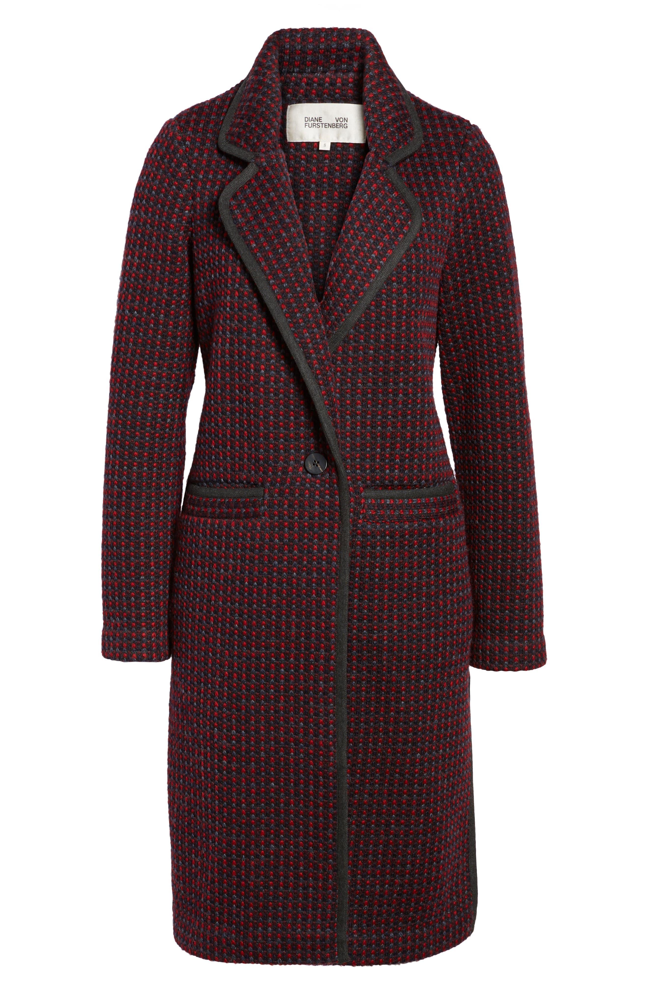 Tweed Coat,                             Alternate thumbnail 5, color,                             610
