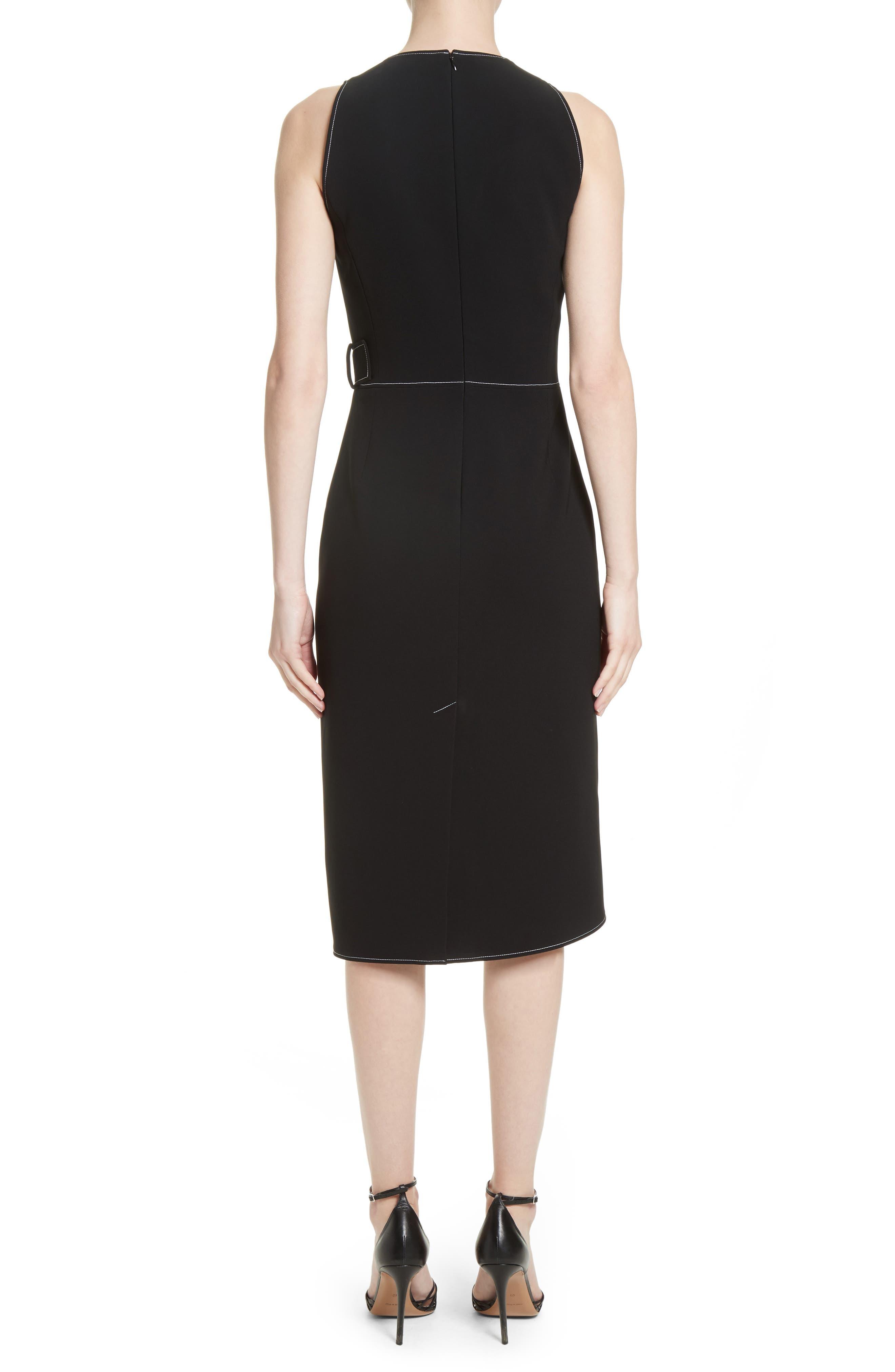 Asymmetrical Belted Dress,                             Alternate thumbnail 2, color,                             001