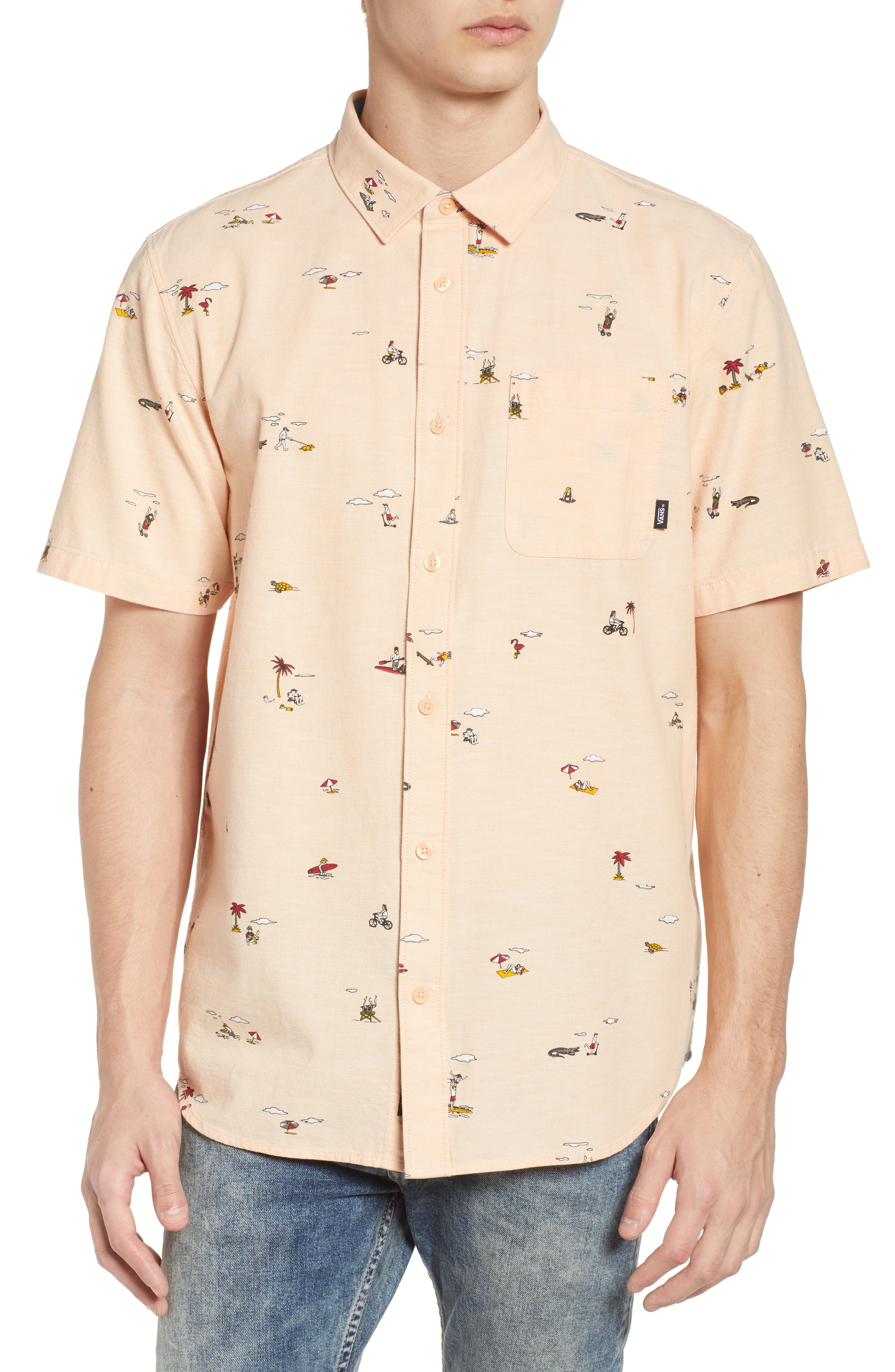 Tres Palmas Short Sleeve Shirt,                             Main thumbnail 1, color,